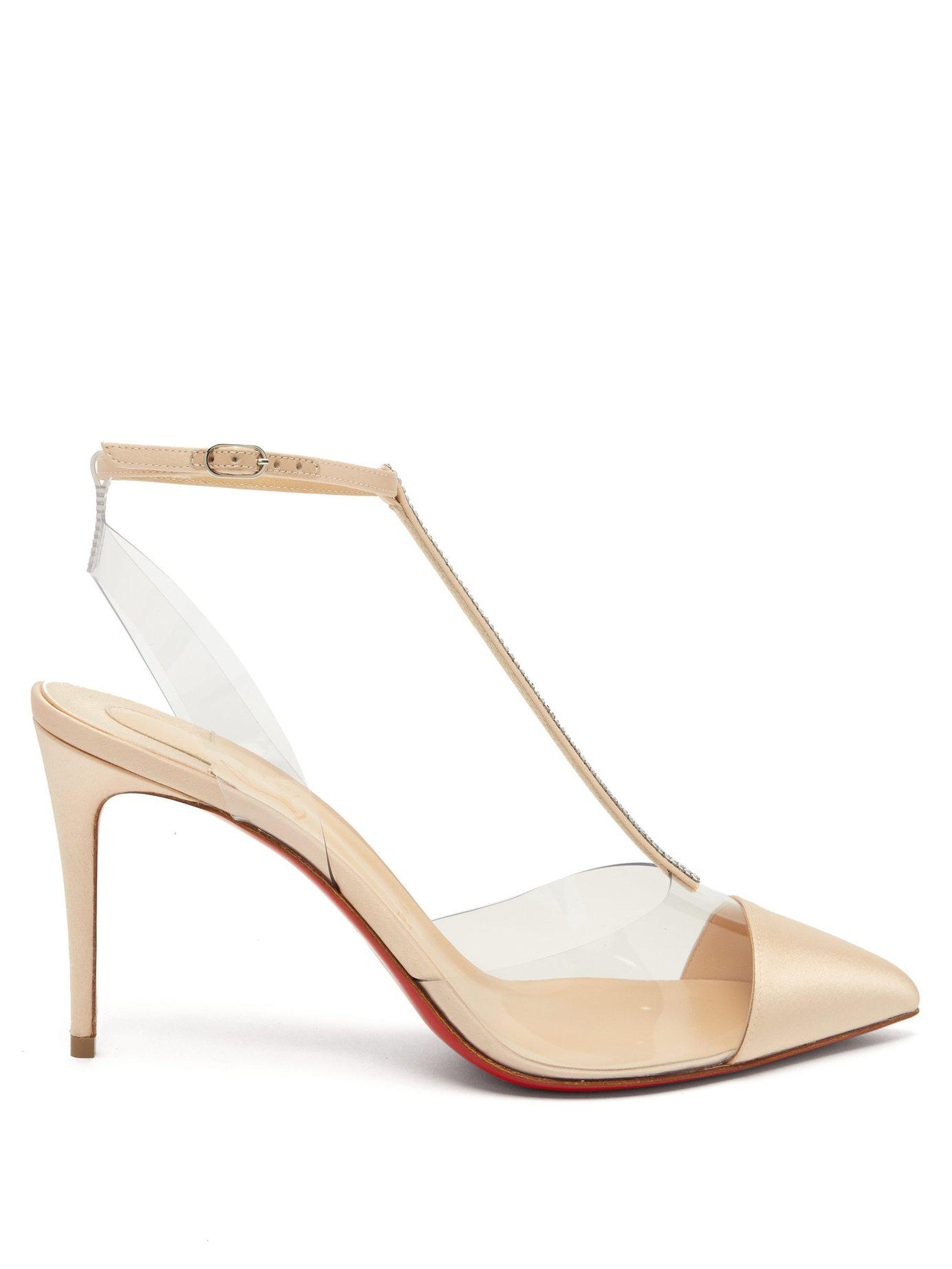 d84b54808ae Christian Louboutin. Women s Nosy 85 Crystal Embellished Satin Pumps