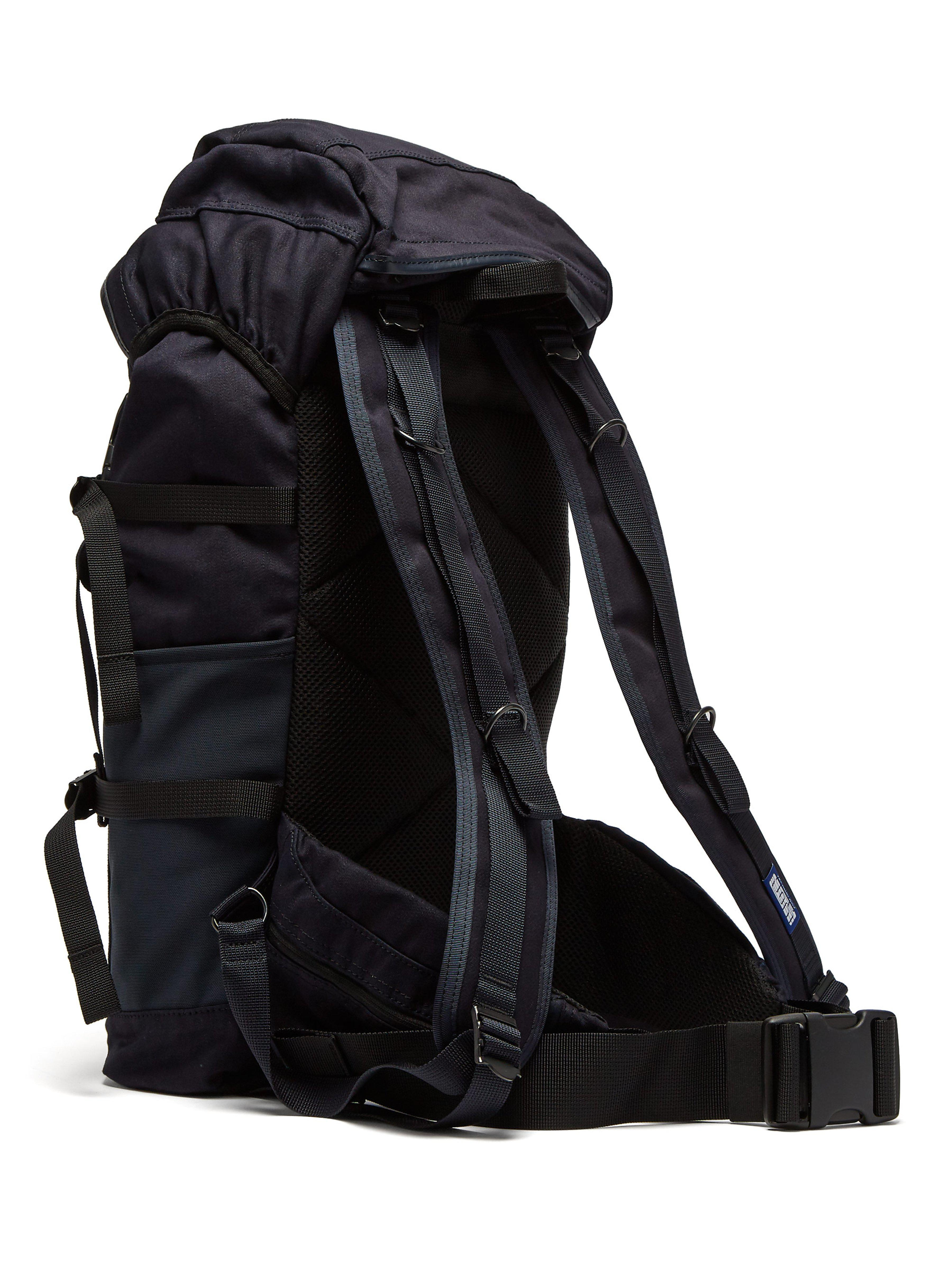 be978ca975 Porter X Airweave Canvas Backpack in Blue for Men - Lyst