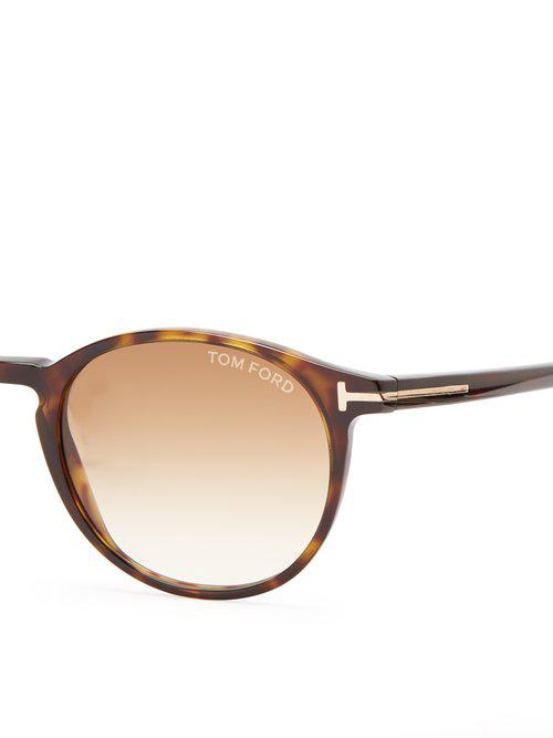 d1c3f72a7e3 Lyst - Tom Ford Andrea Acetate Sunglasses in Brown for Men