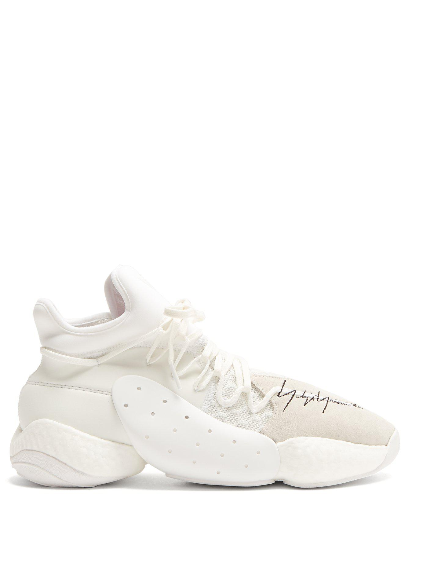 5e54f23a829 Lyst - Y-3 X James Harden Byw Bball Mid Top Trainers in White for Men