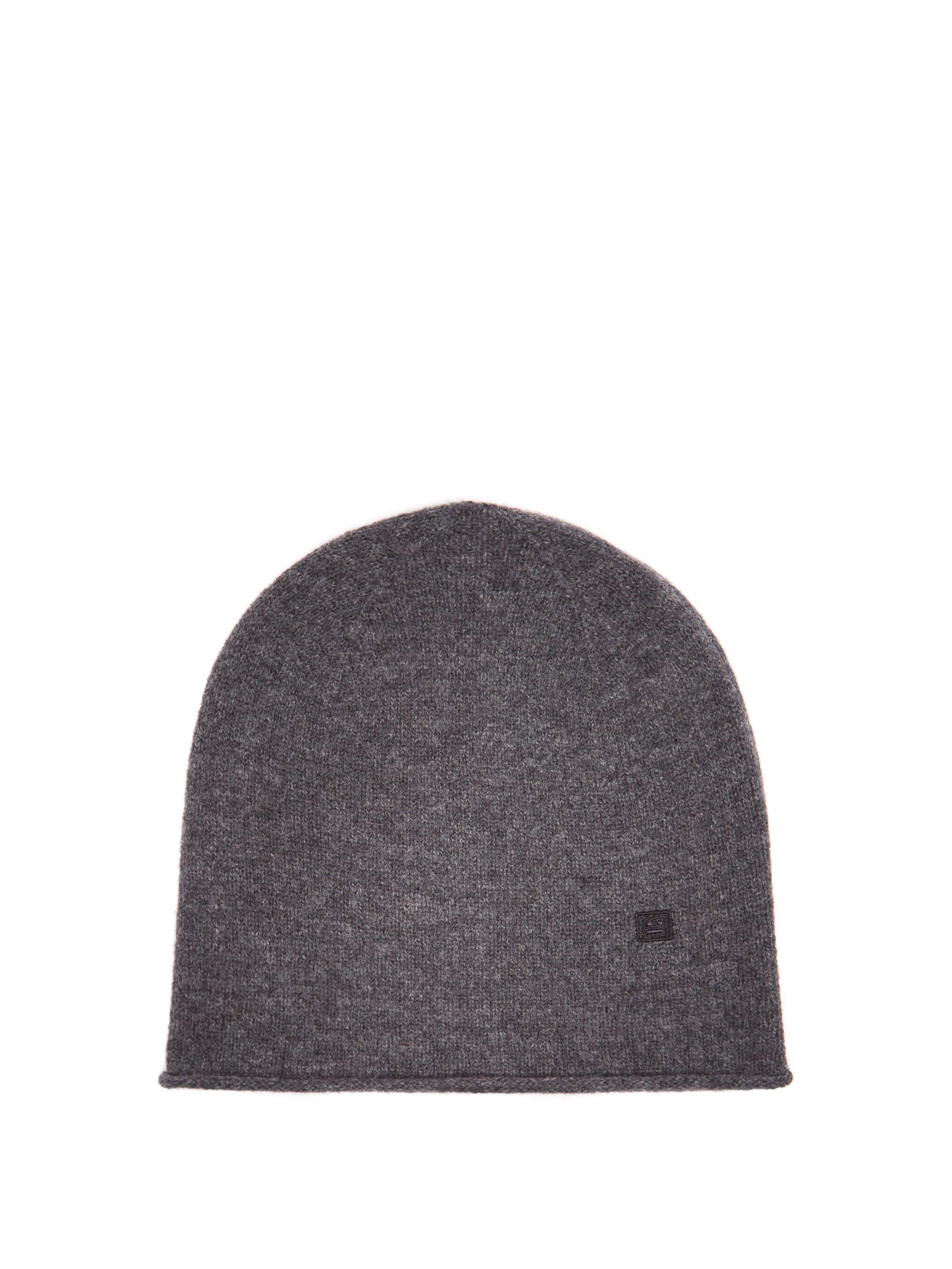 b3fc8a7dba4 Acne Studios Pansy S Face Wool Beanie Hat in Gray - Lyst