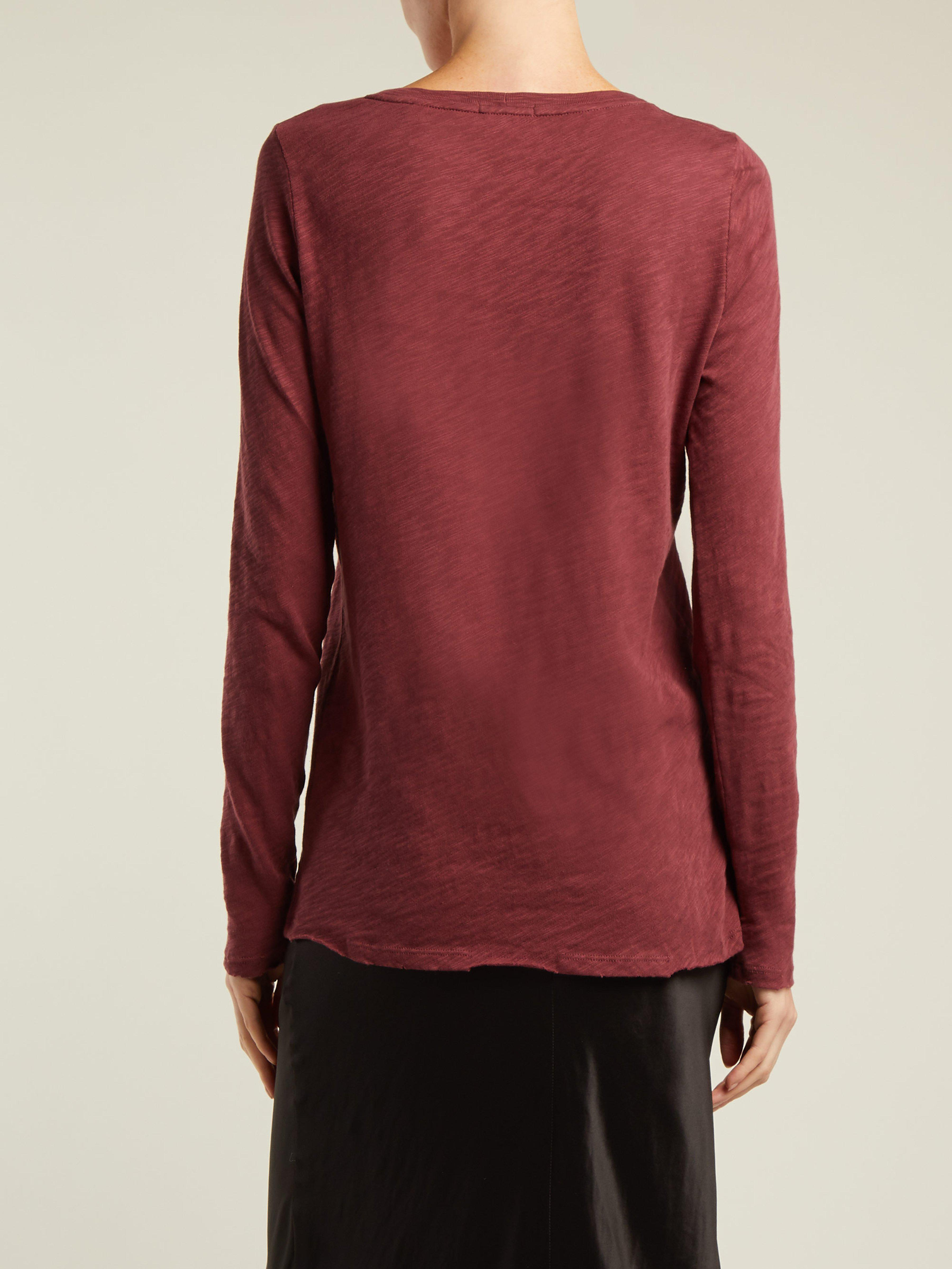 d2208980cc1 ATM - Red Slub Cotton Jersey T Shirt - Lyst. View fullscreen