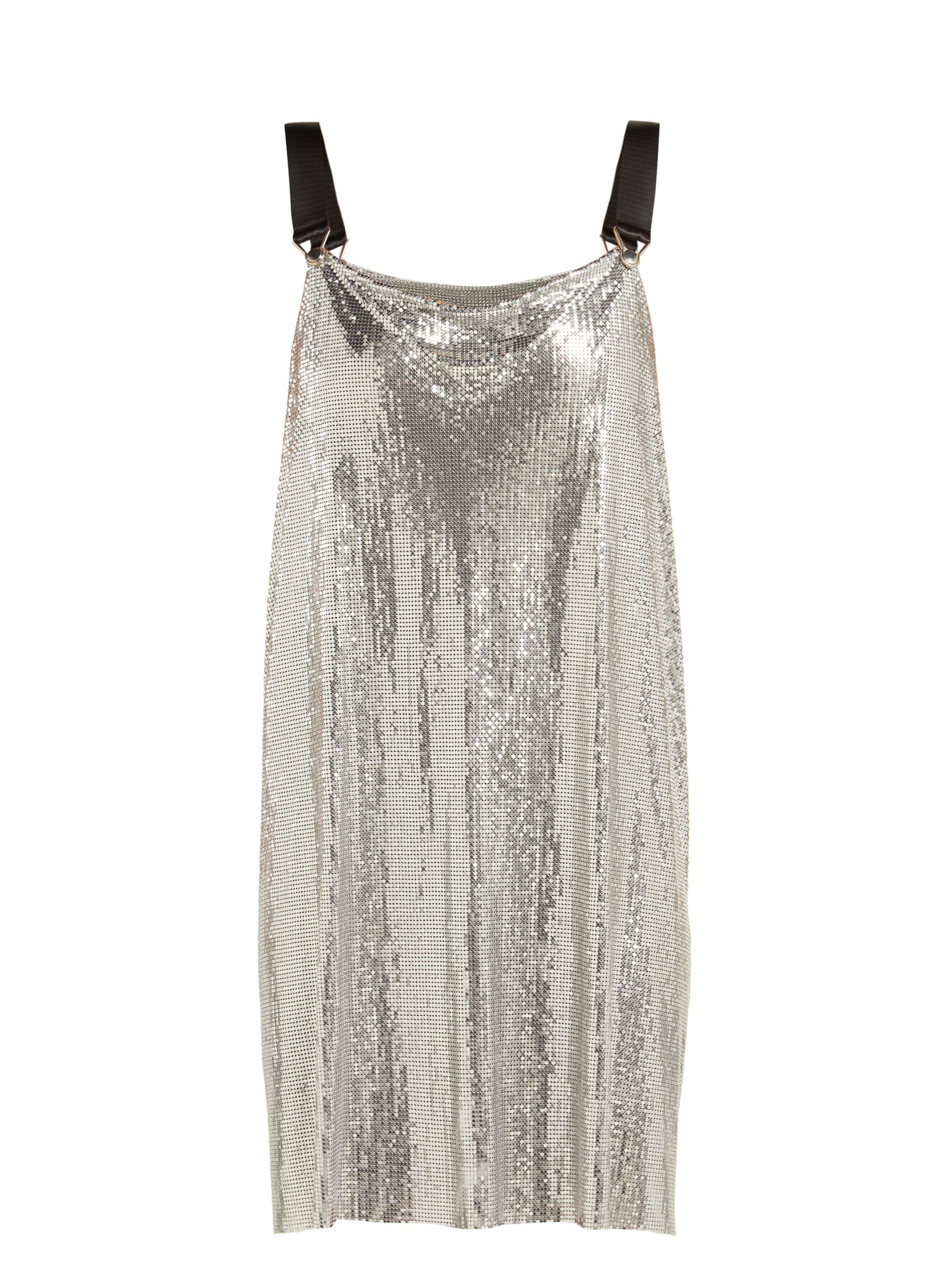 19efb9c093 Paco Rabanne Metal Mesh Cowl Neck Mini Dress in Metallic - Lyst