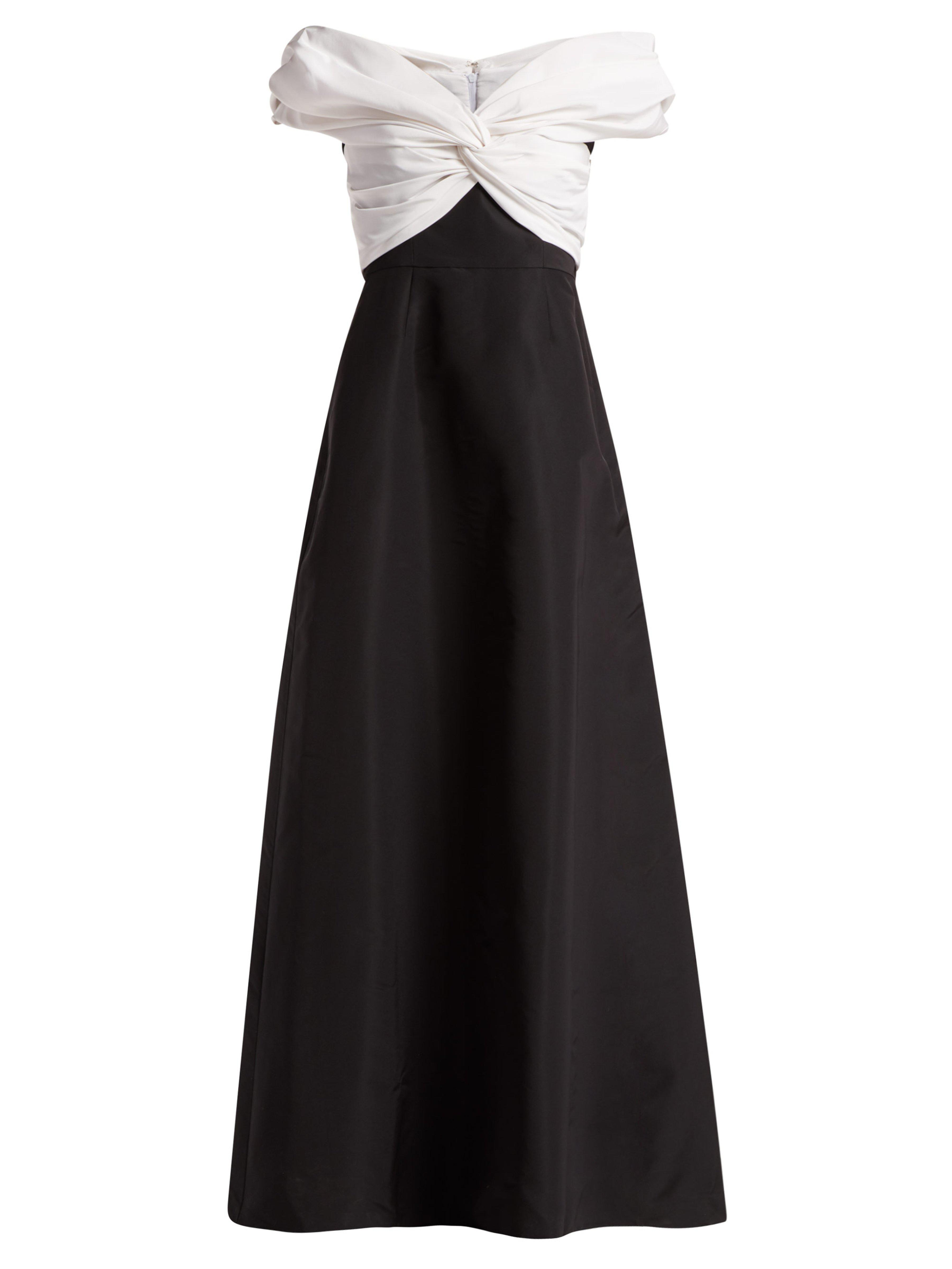 045e7944f76a Carolina Herrera Off-the-shoulder Gathered Silk-faille Gown in Black ...