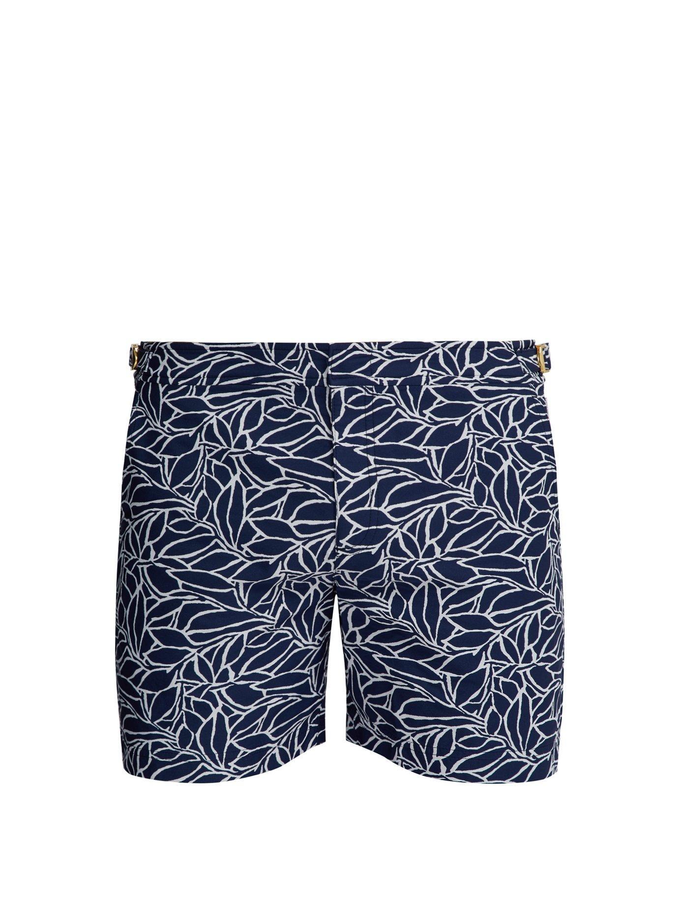 7bab8393ffc Orlebar Brown. Men's Blue Bulldog X Alaria Abstract Jacquard Swimshorts