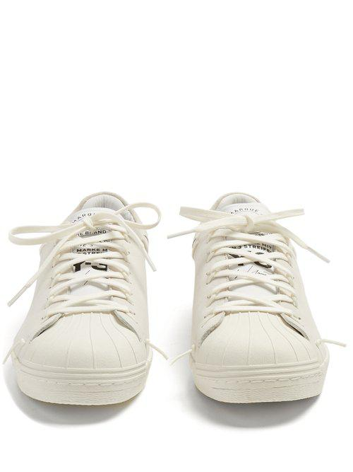 5d4a13e6af1bf Lyst - Y-3 Superknot Superstar Suede Low-top Trainers in White for Men