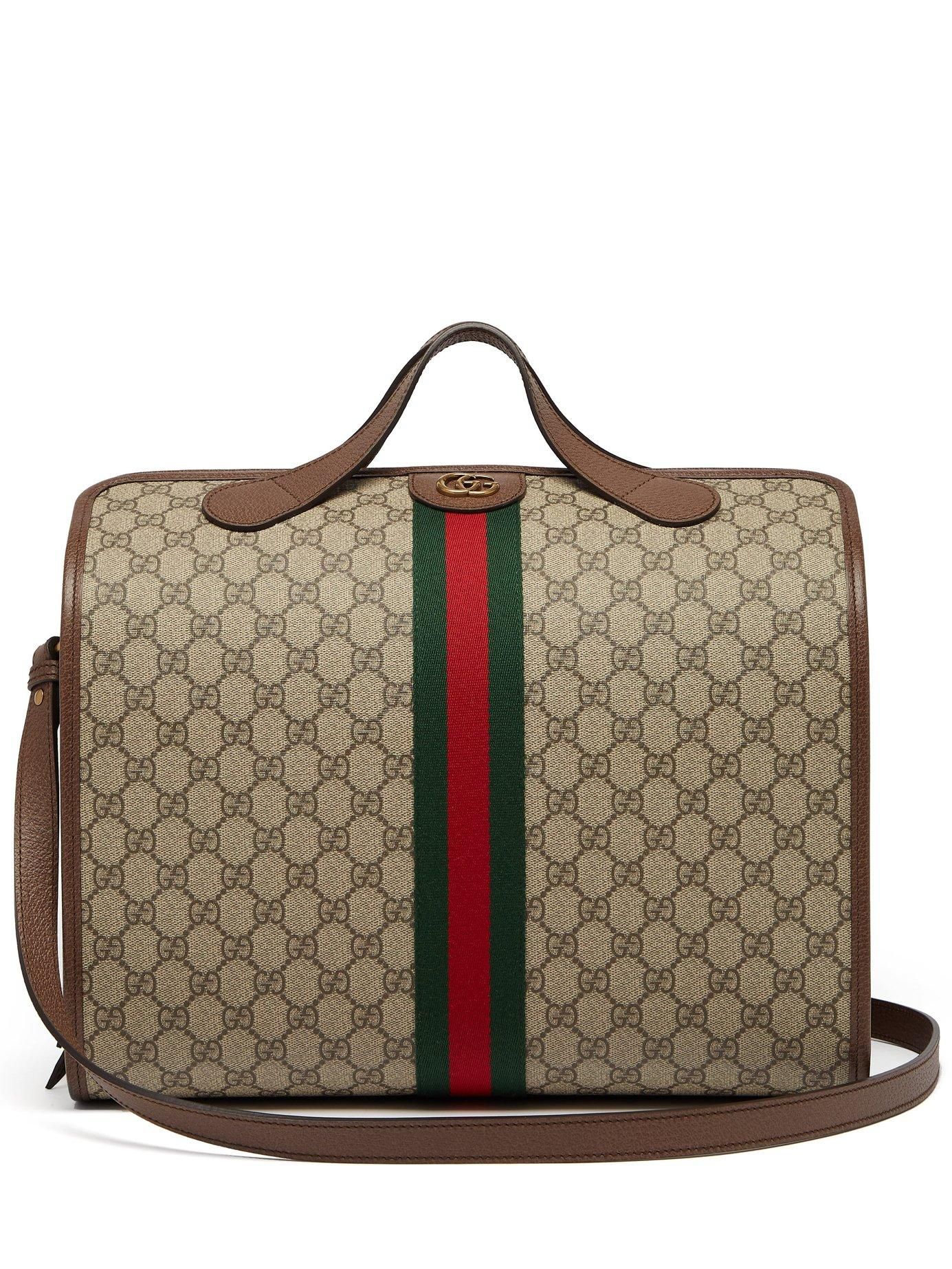030f9ea0d5c4 Lyst - Gucci Ophidia Gg Supreme Holdall in Natural for Men