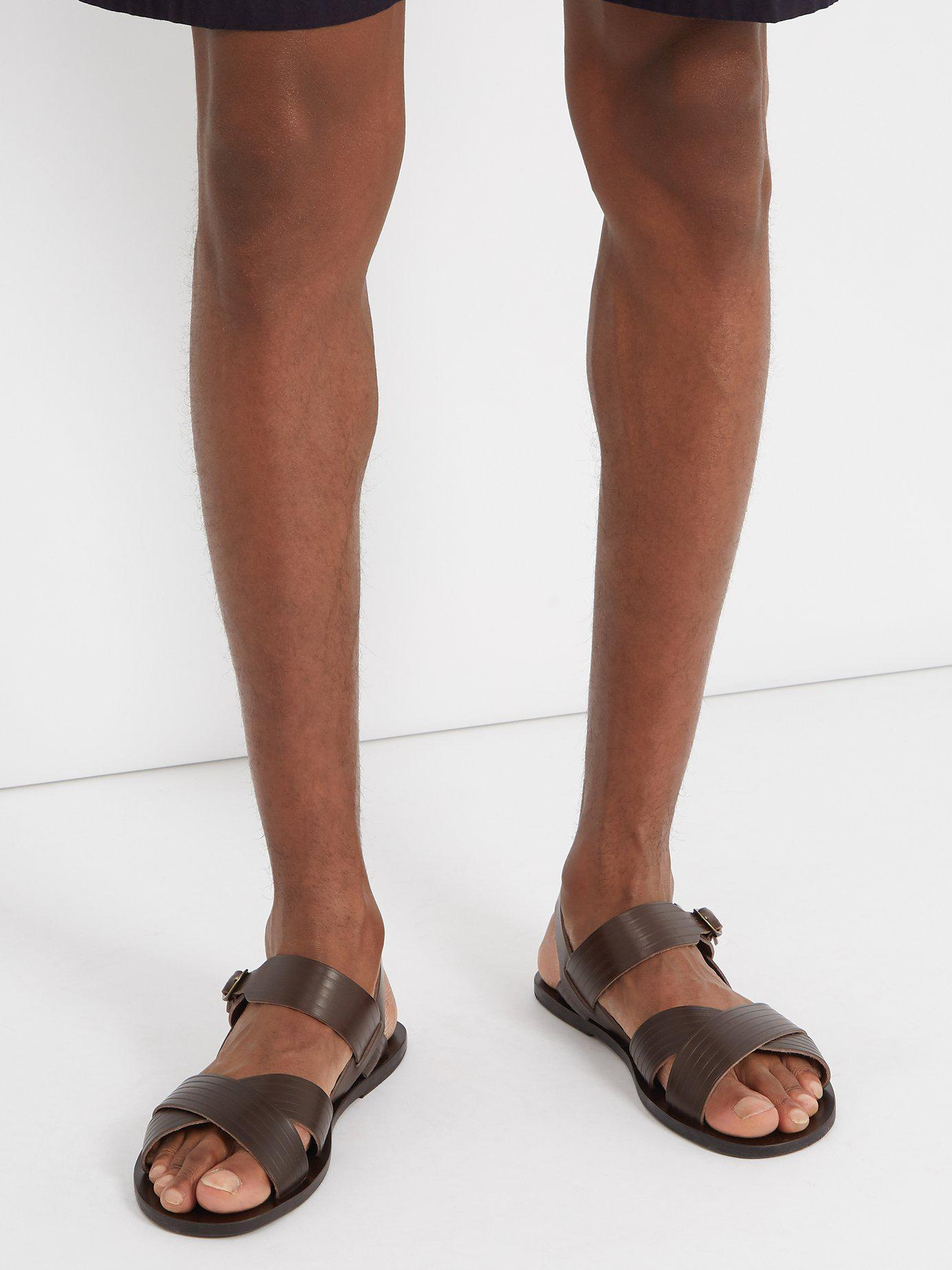 3a1a857c154ab9 Lyst - Ancient Greek Sandals Socrates Leather Sandals in Brown for Men