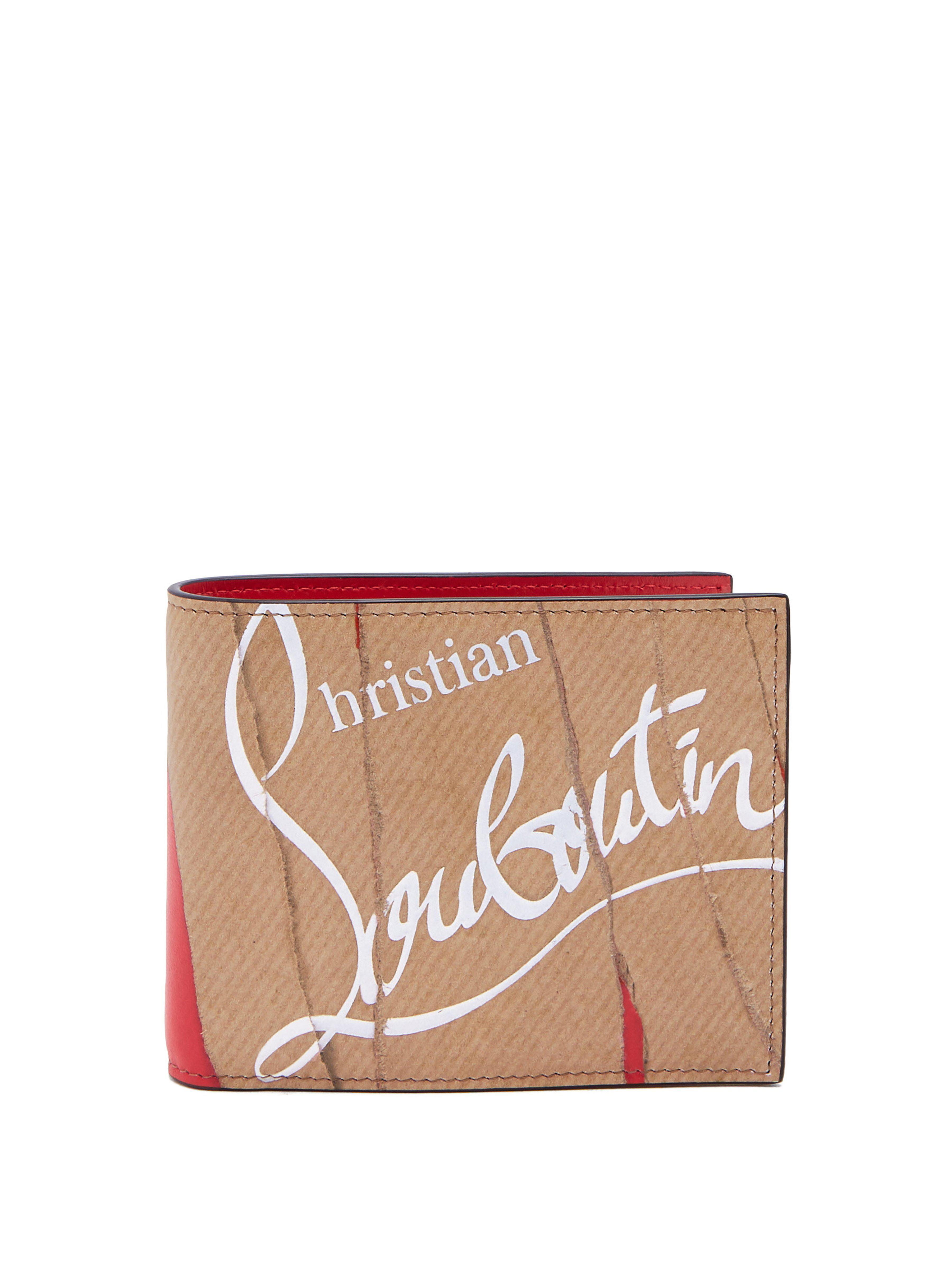 c79c54183fd Lyst - Portefeuille en cuir Kraft Coolcoin Christian Louboutin pour ...