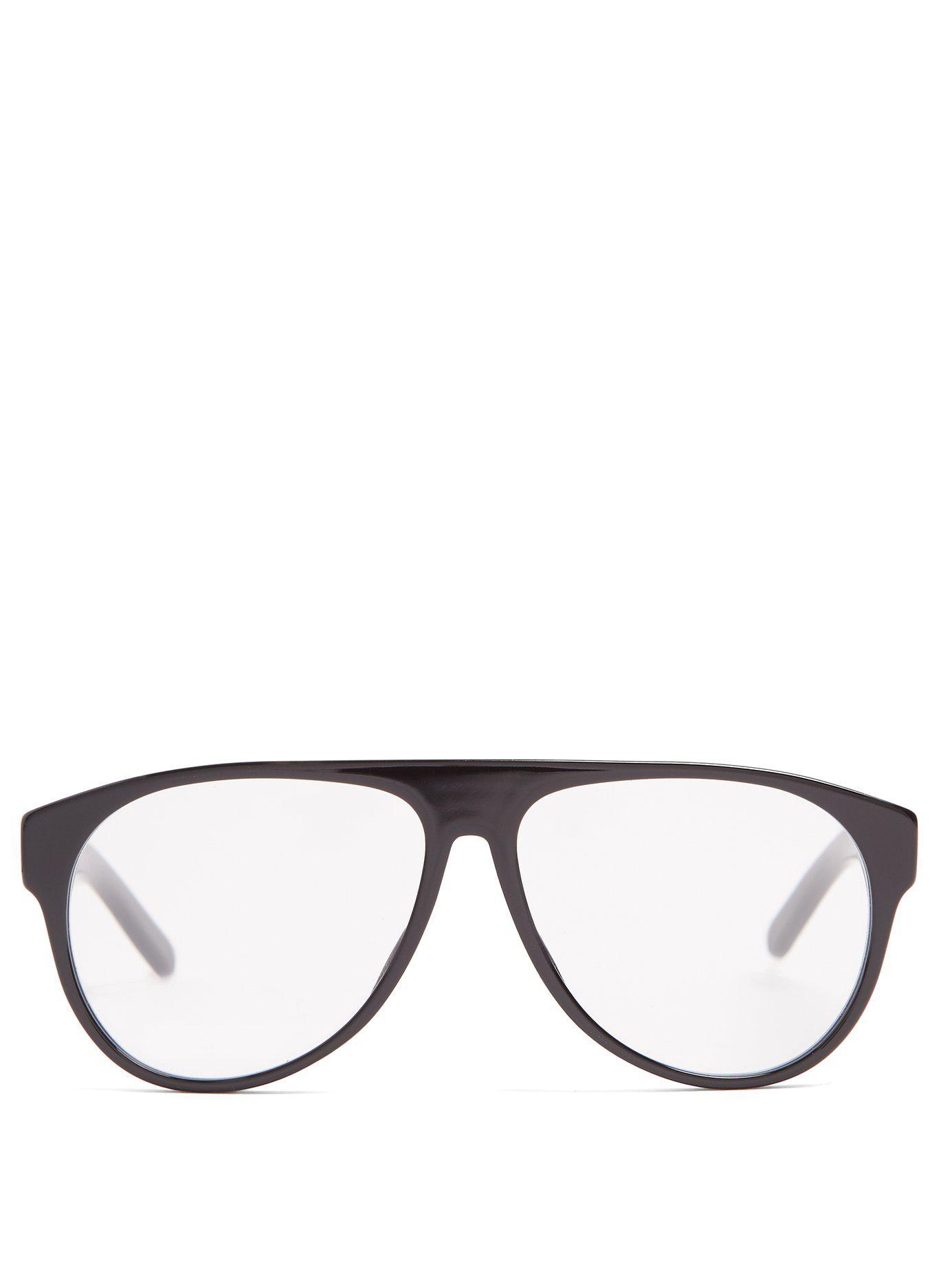 b8d56c7de8a Lyst - Dior Homme Aviator Acetate Glasses in Black for Men