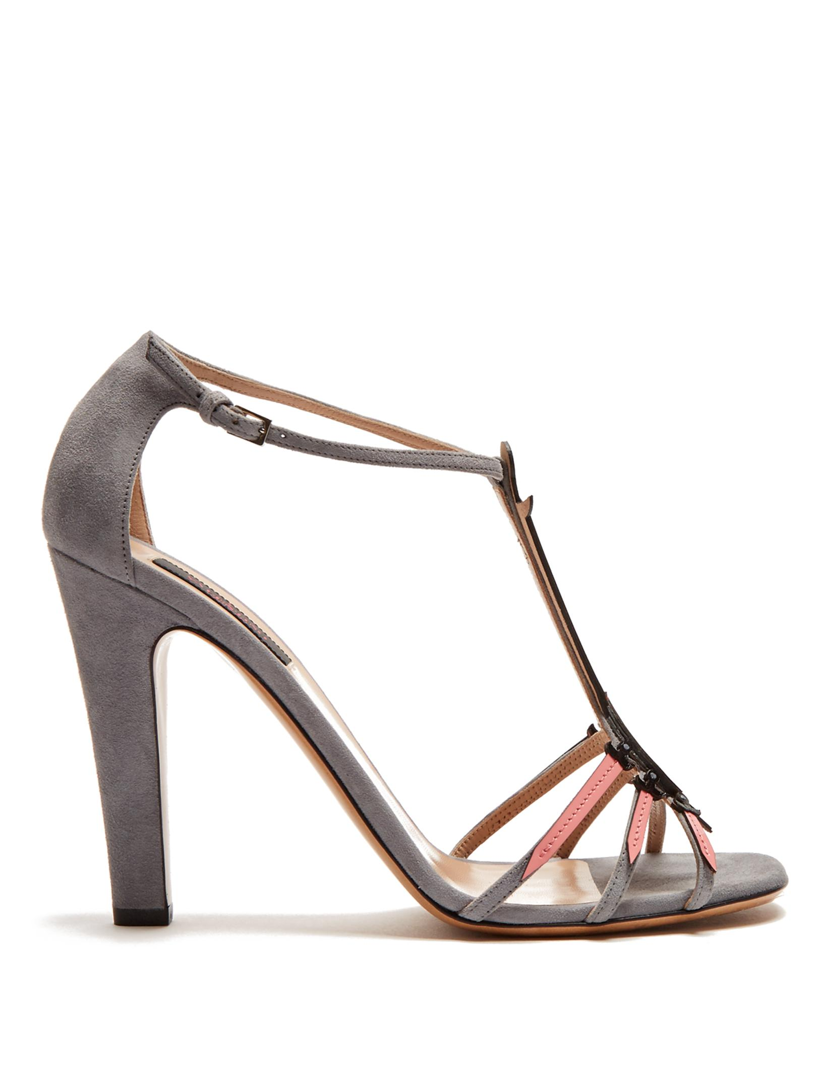 View Valentino Love Blade suede and patent-leather sandals Discount Sneakernews Clearance Ebay Supply For Sale gJimyf