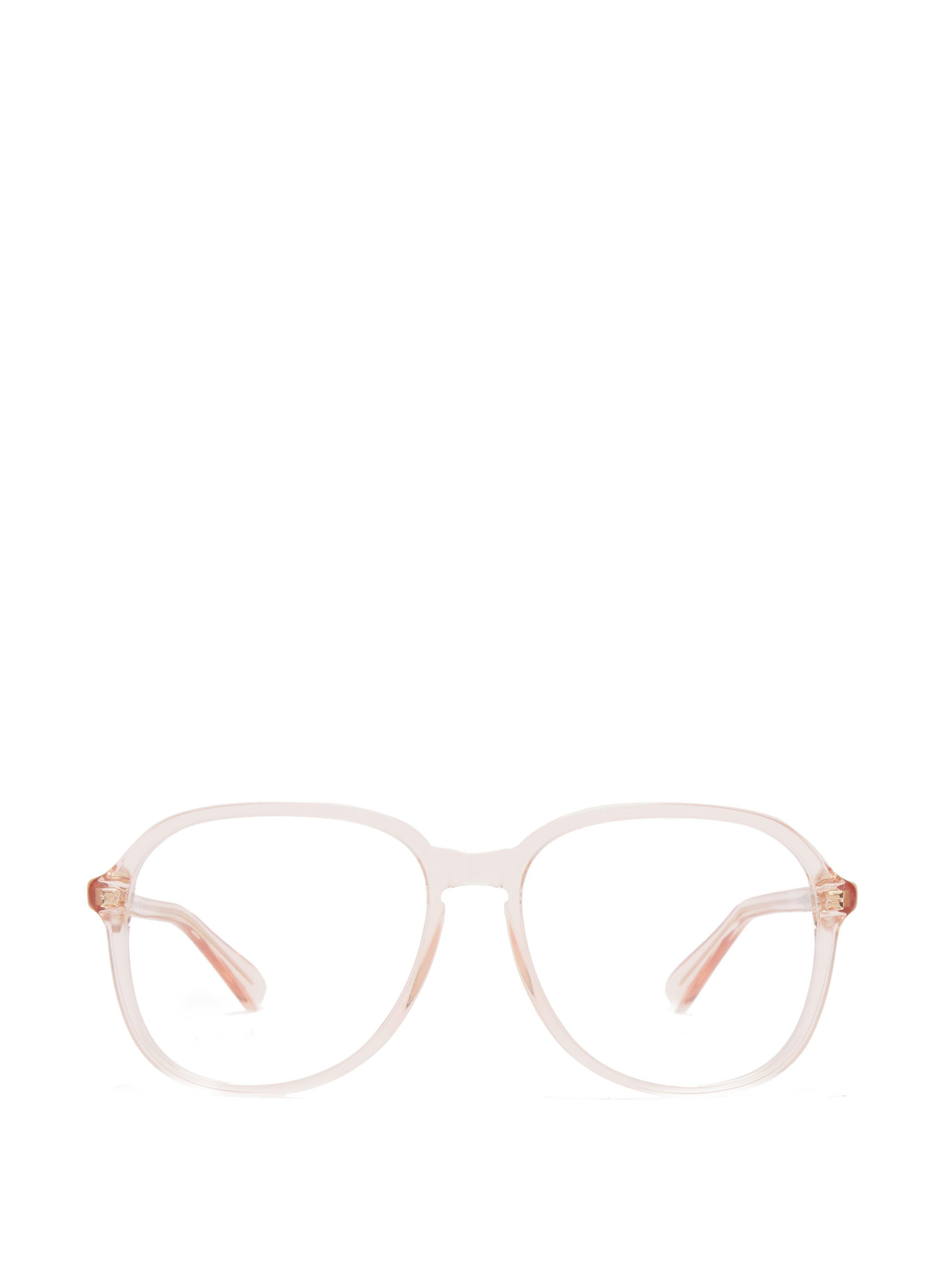 2bbcbc60a10 Gucci Square Frame Acetate Glasses in Pink - Lyst