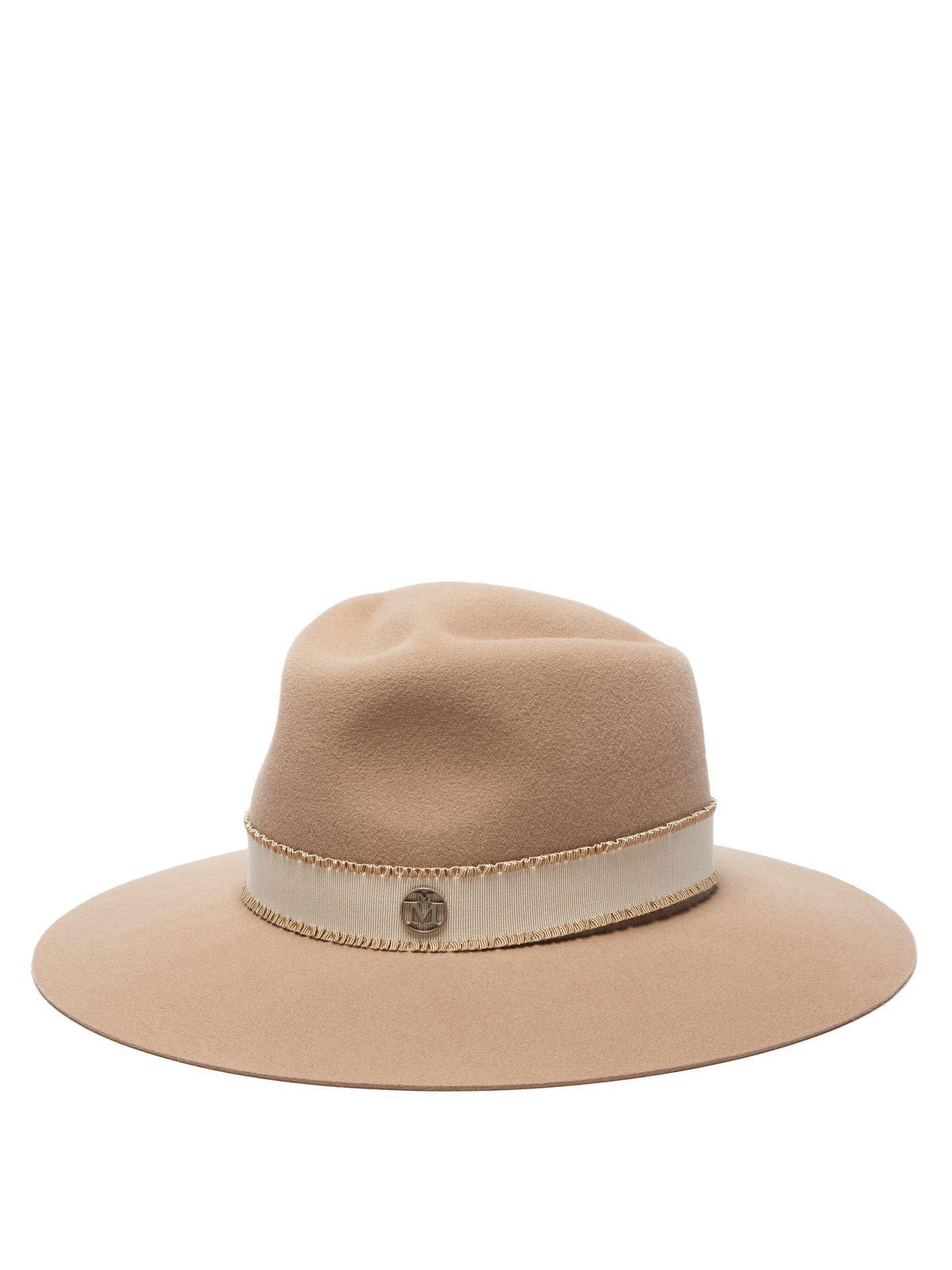 47cf489f67a Lyst - Maison Michel Charles Felt Fedora Hat in Natural