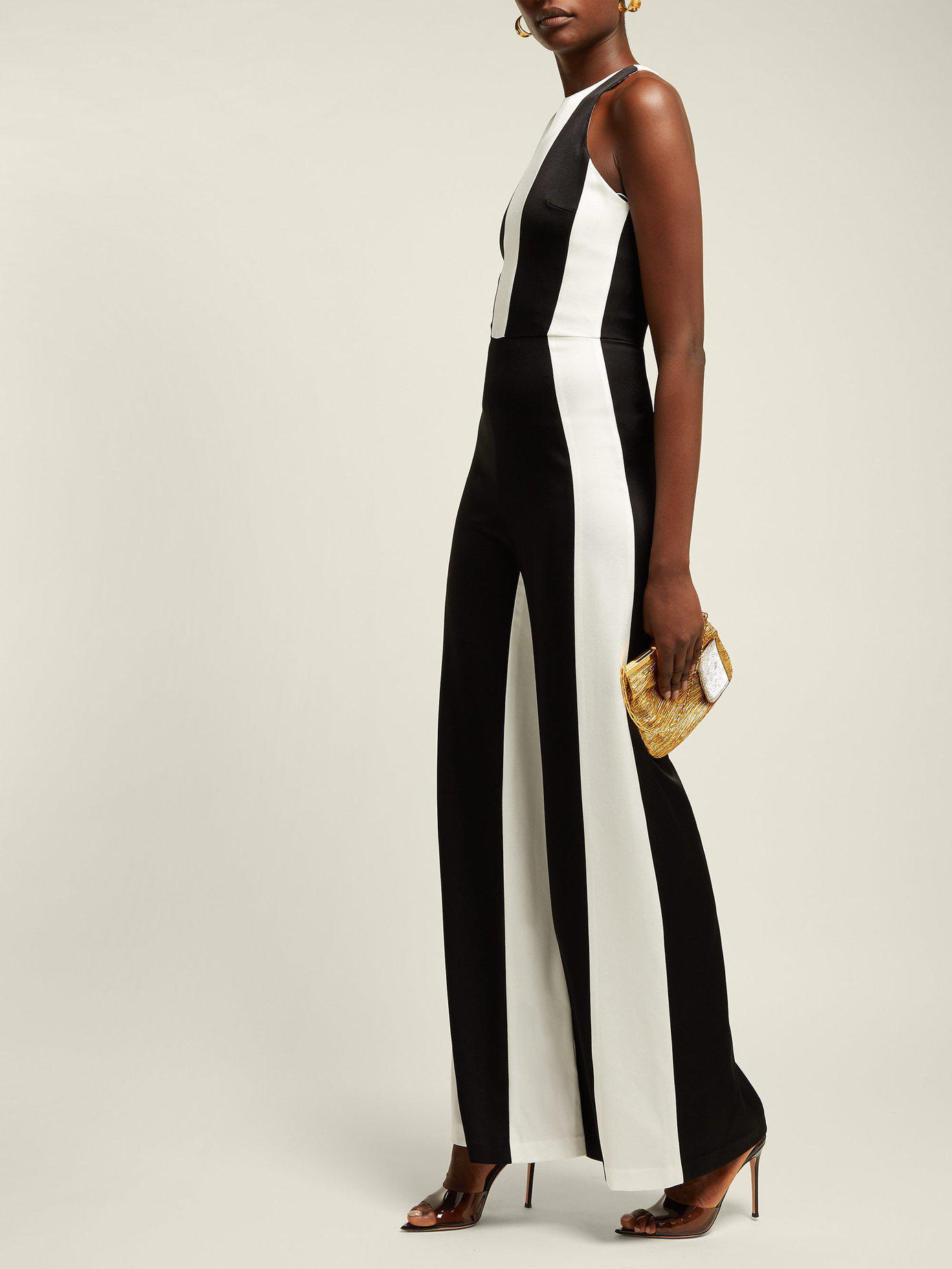c86e4a69d9c Lyst - Galvan London Marlene Panelled Crepe Jumpsuit in Black