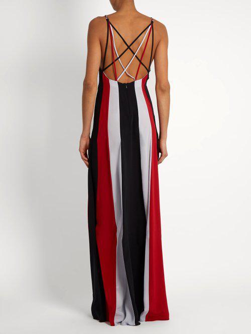 Lyst Gabriela Hearst Somerset Silk Crepe Maxi Dress In Red