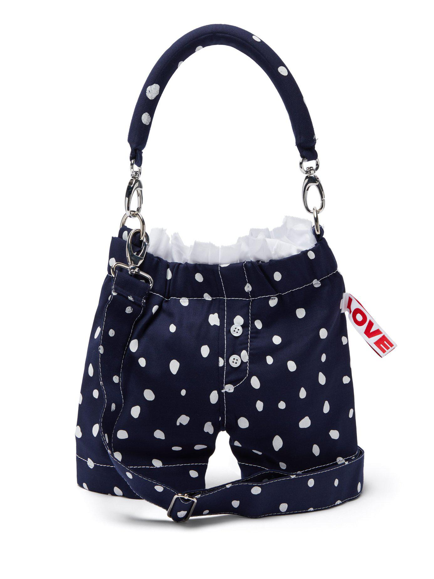 f48a0ea5f174 CHARLES JEFFREY LOVERBOY. Women s Blue Panties Polka Dot Wool Cross Body Bag