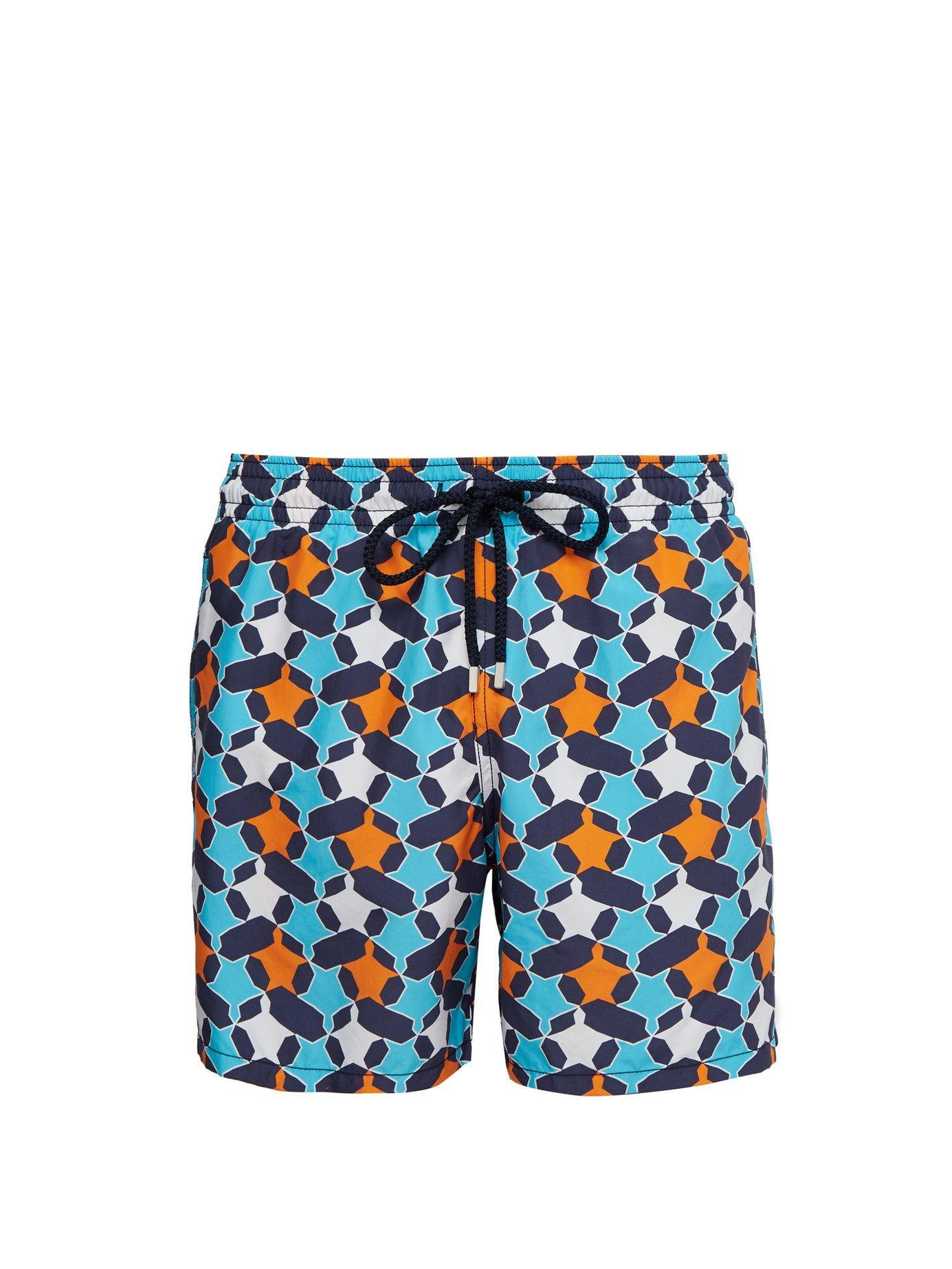 058647742d Lyst - Vilebrequin Moorea Geometric Turtle Print Swim Shorts in Blue ...