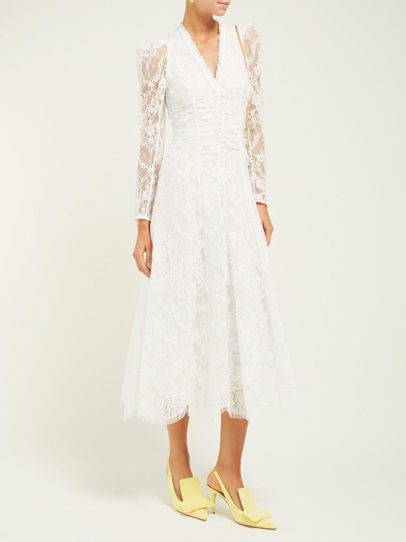 1ddb1f3b2 Annalee cottonblend Chantillylace gown Erdem Fashion in 2019