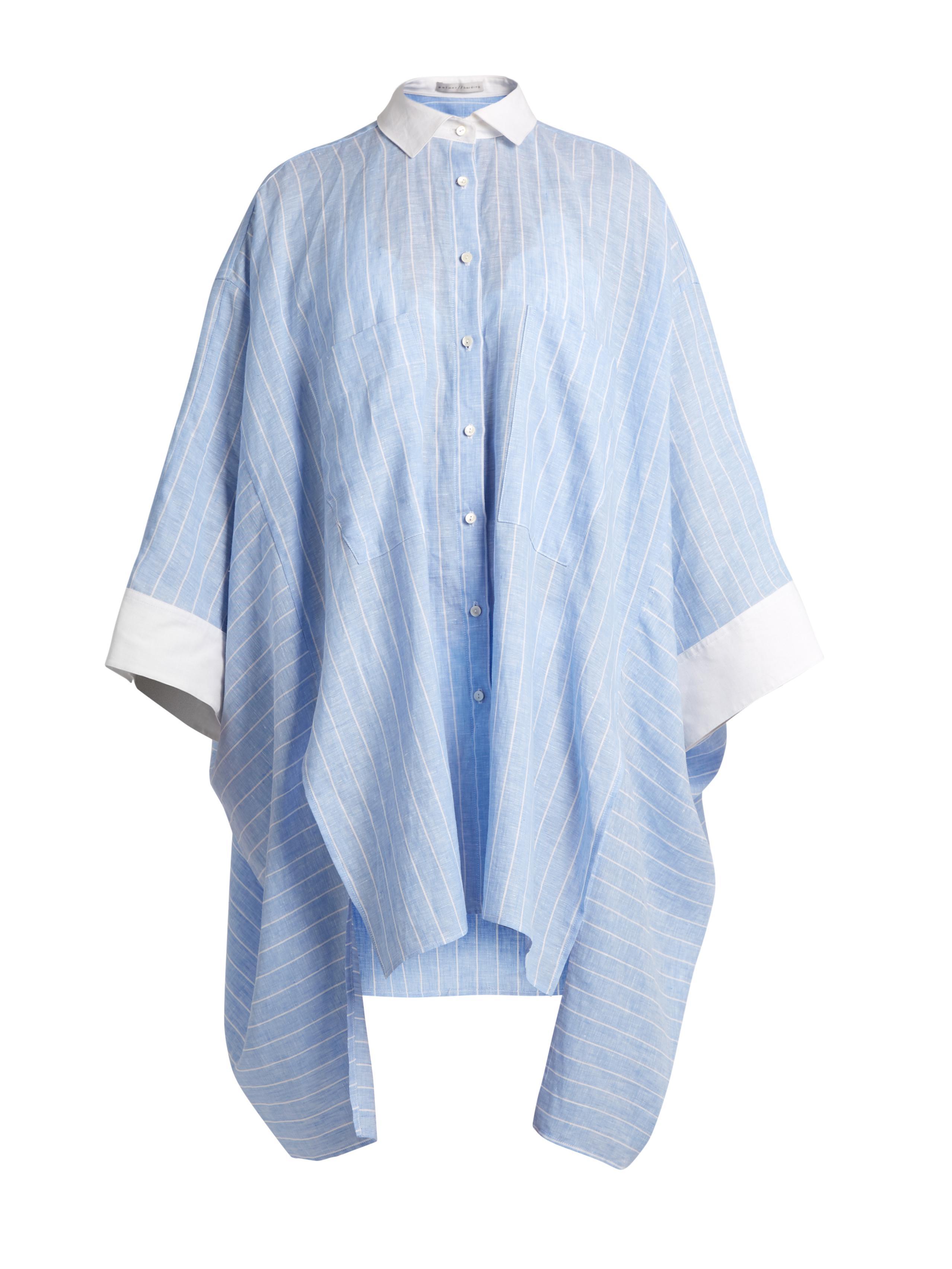 Discount Best Seller Factory Outlet Cheap Online Asymmetric linen shirt Palmer//harding Outlet Hot Sale Online For Sale Cheap Order 8Pt9Lixwc