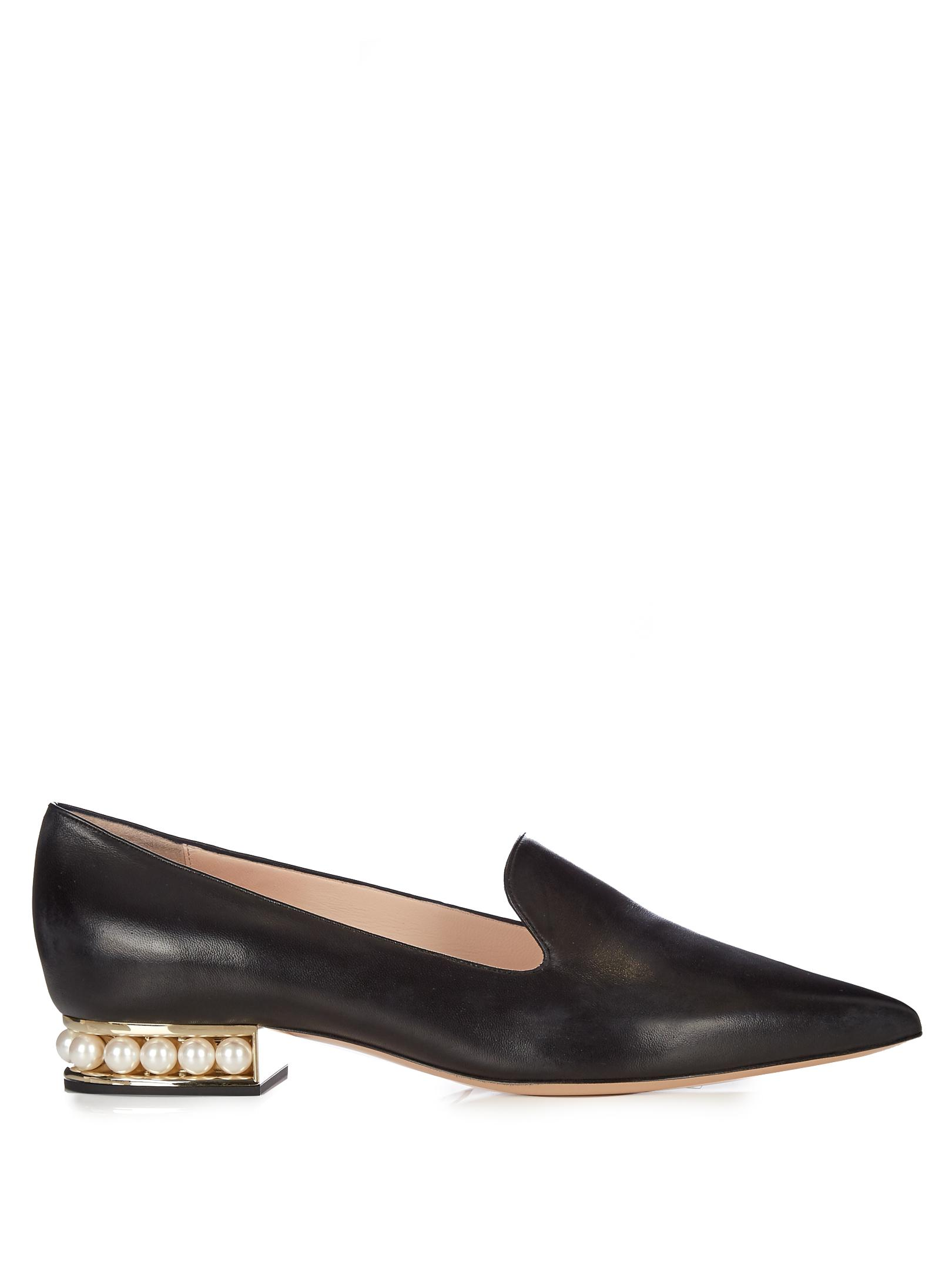 Opening Ceremony Gold Lurex Casati Pearl Loafers aBlayWuk