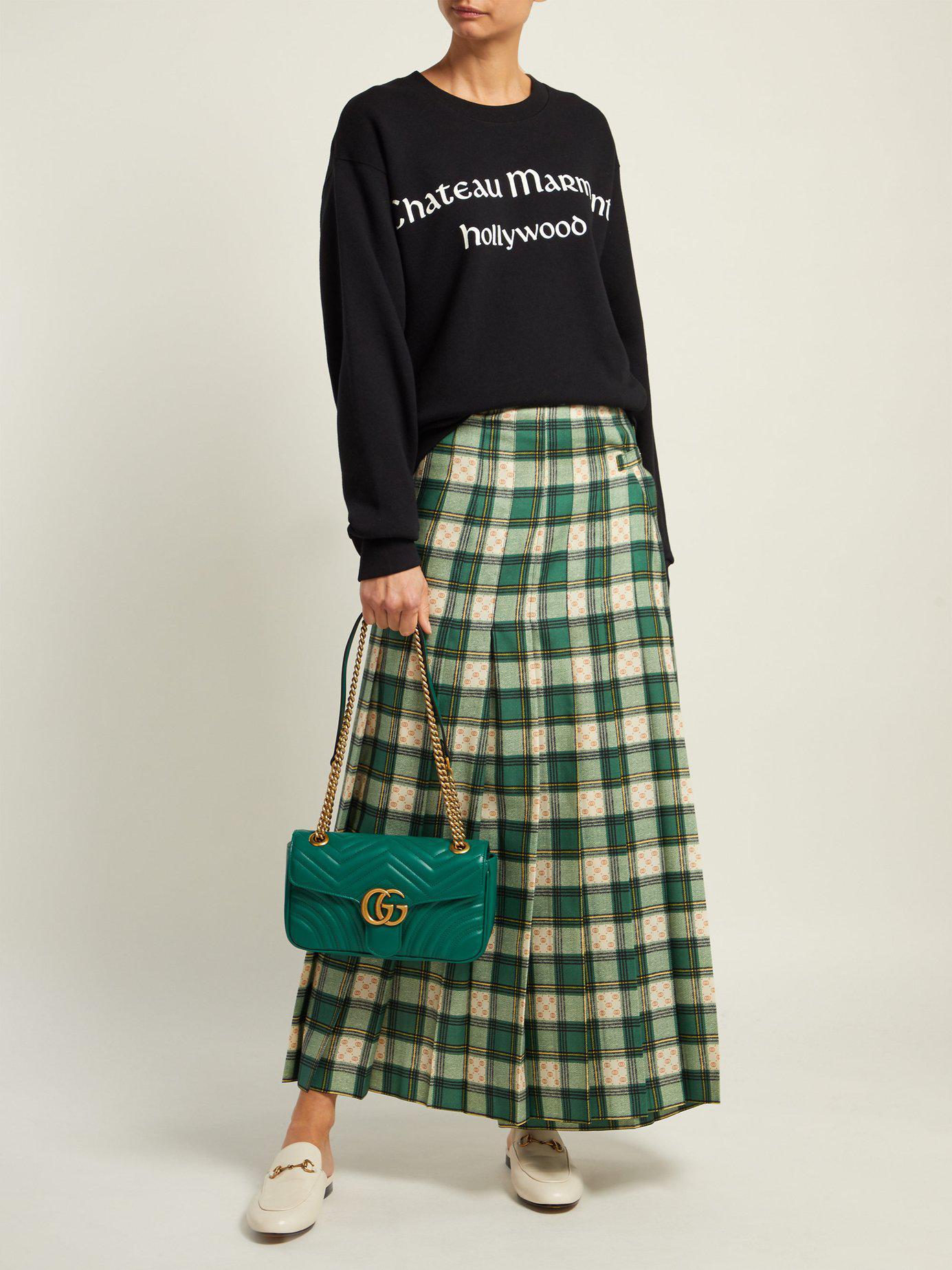 963d08fa33de Gucci Women's GG Marmont Matelassé Mini Bag - Red in Green - Save 10% - Lyst