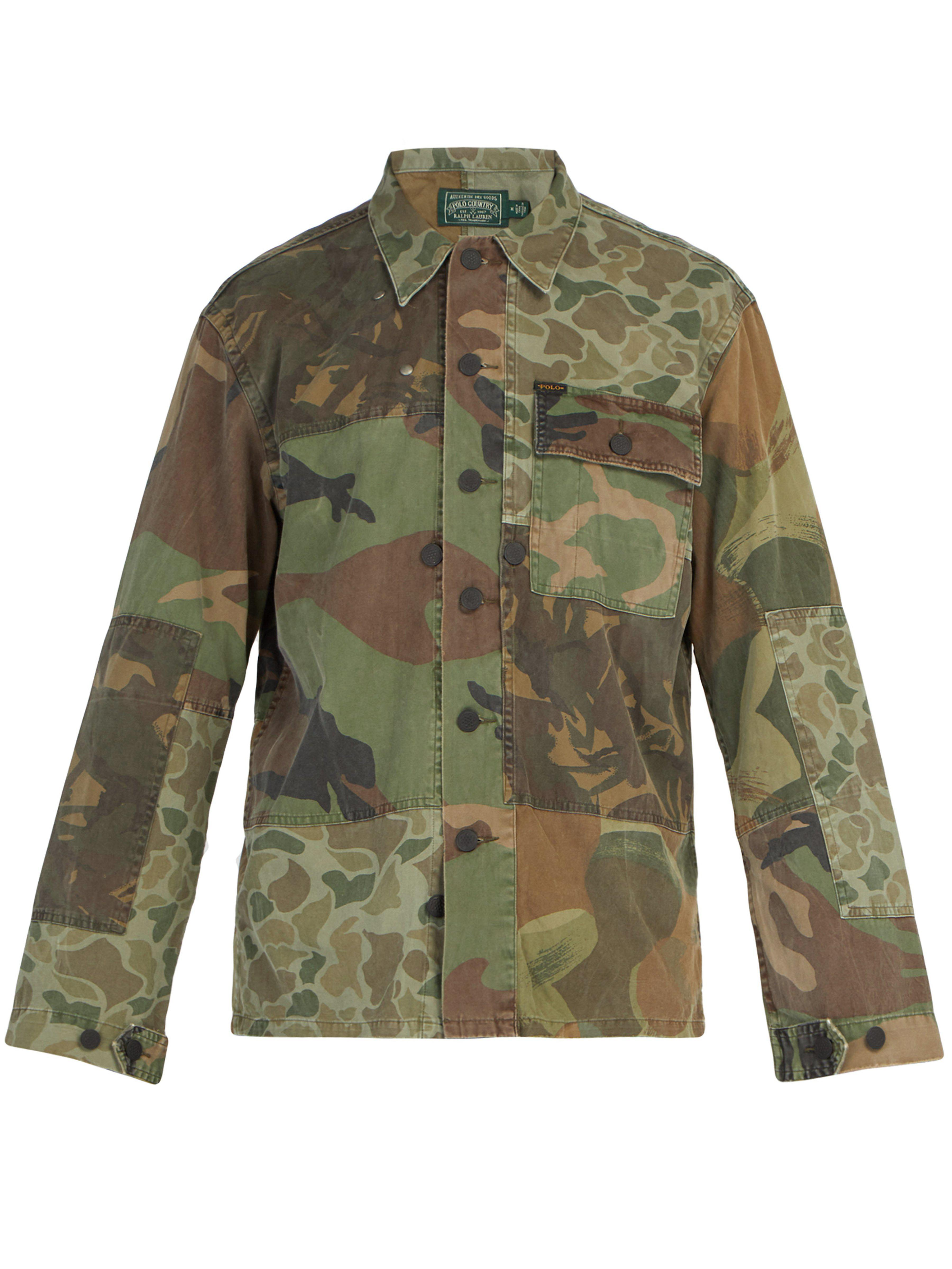 a60044330 Polo Ralph Lauren Camouflage Print Cotton Jacket in Green for Men - Lyst