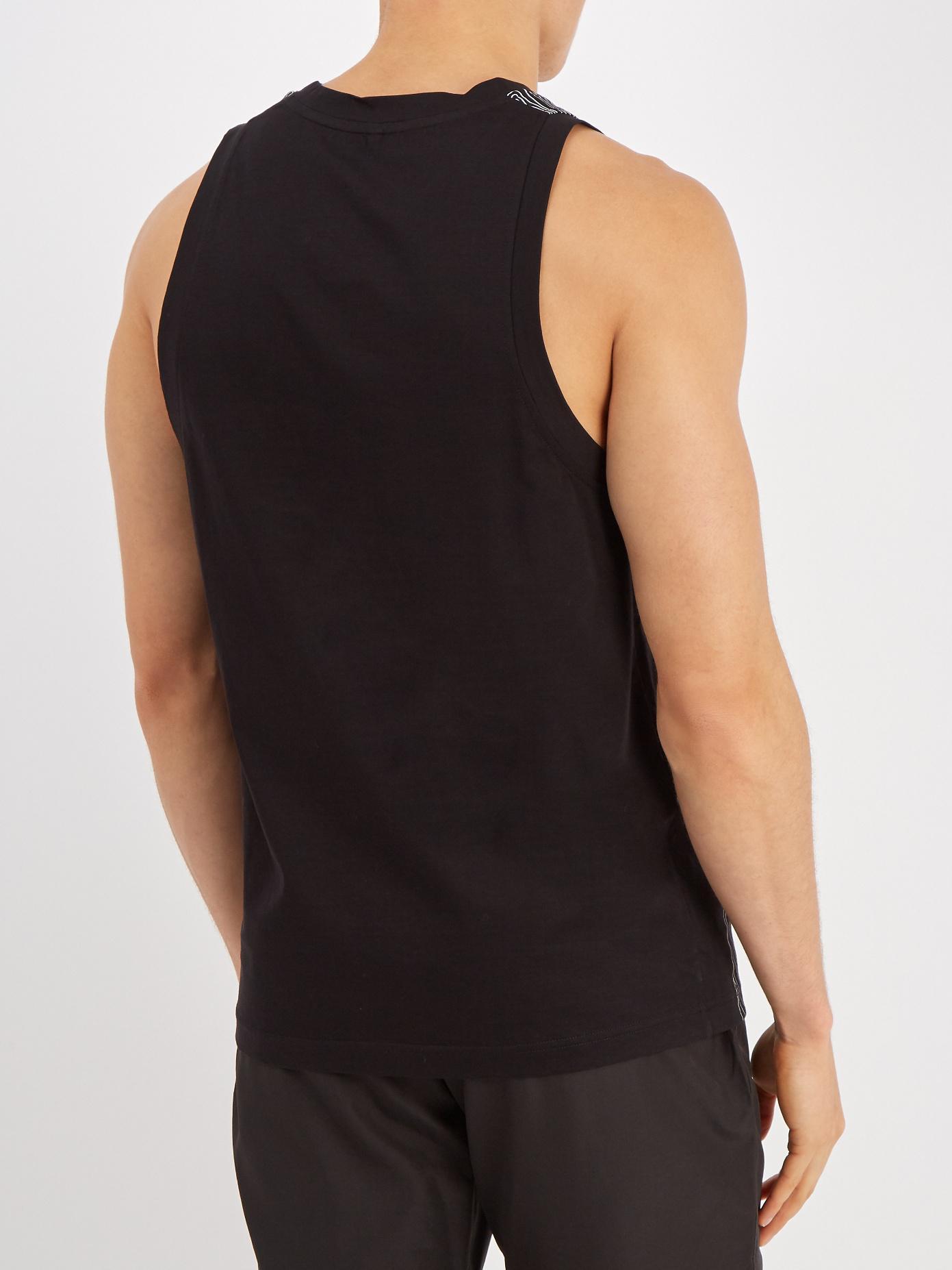 Topography body-print cotton-jersey tank top Blackbarrett by Neil Barrett Cheap Sale 100% Guaranteed sweCit