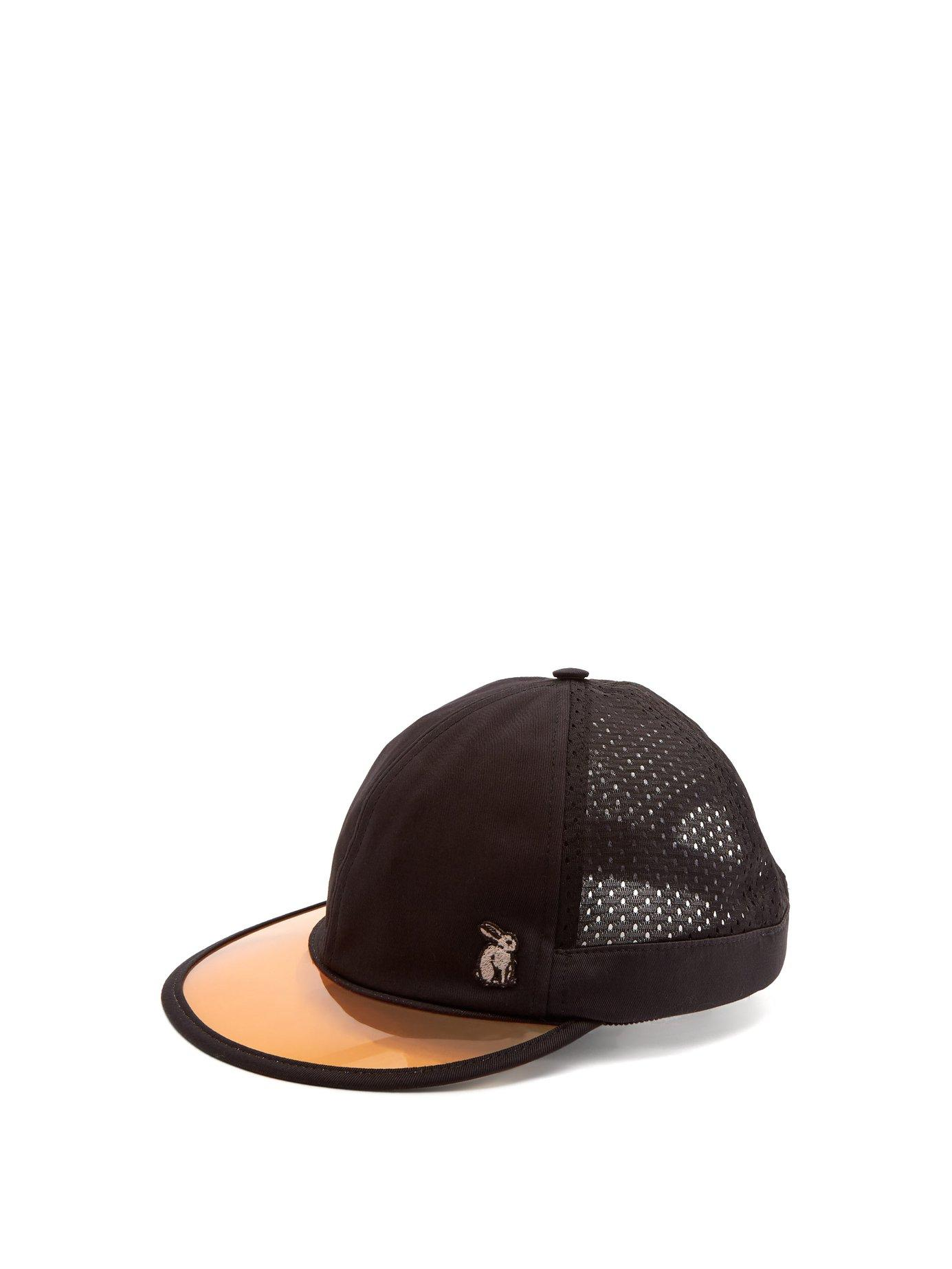 e33f8a14914 Lyst - Gucci Mesh And Cotton Visor Cap in Black for Men - Save 18%