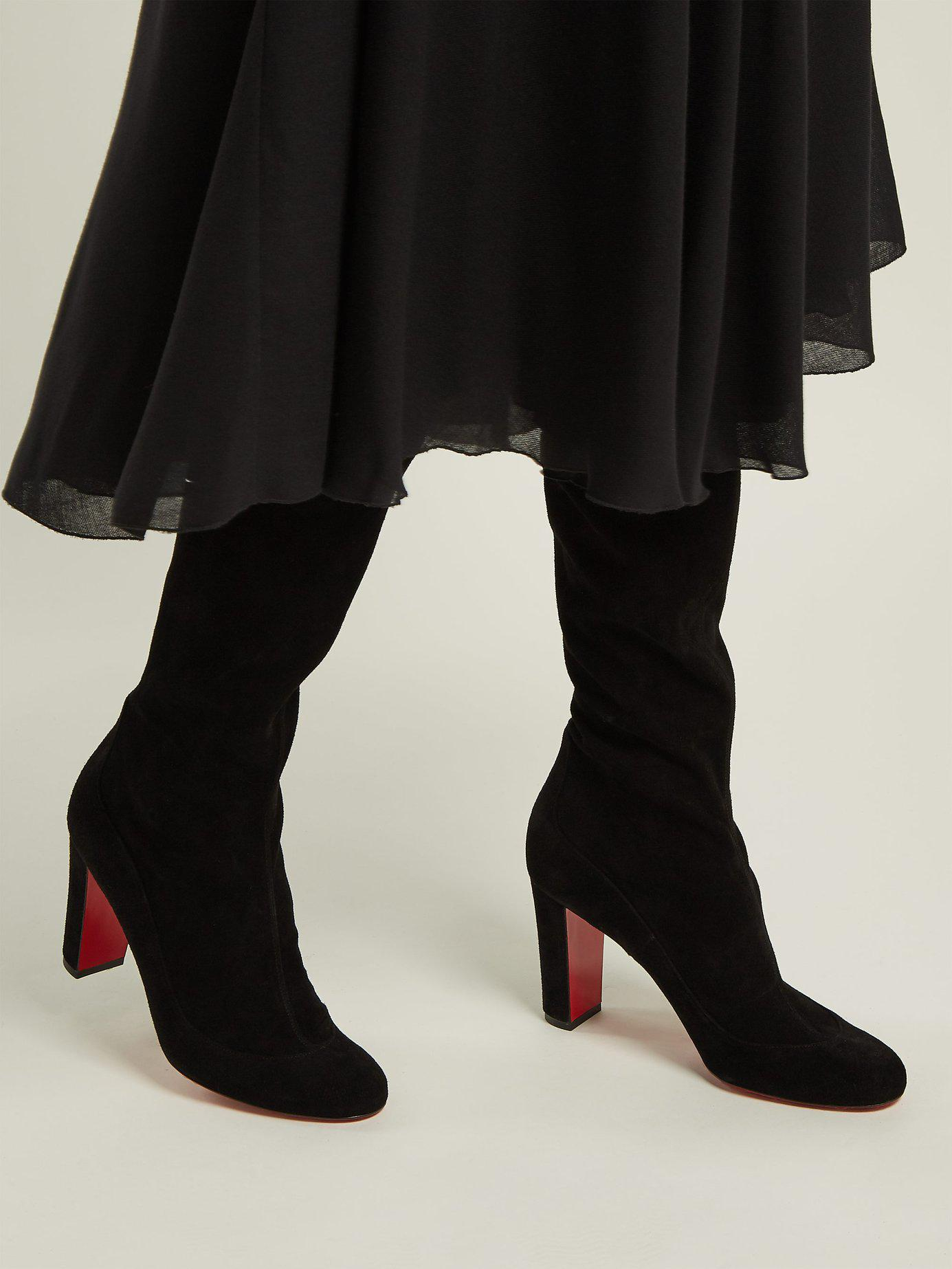 e38b06f3158 Christian Louboutin - Black Kiss Me Gina 85 Over The Knee Boots - Lyst.  View fullscreen