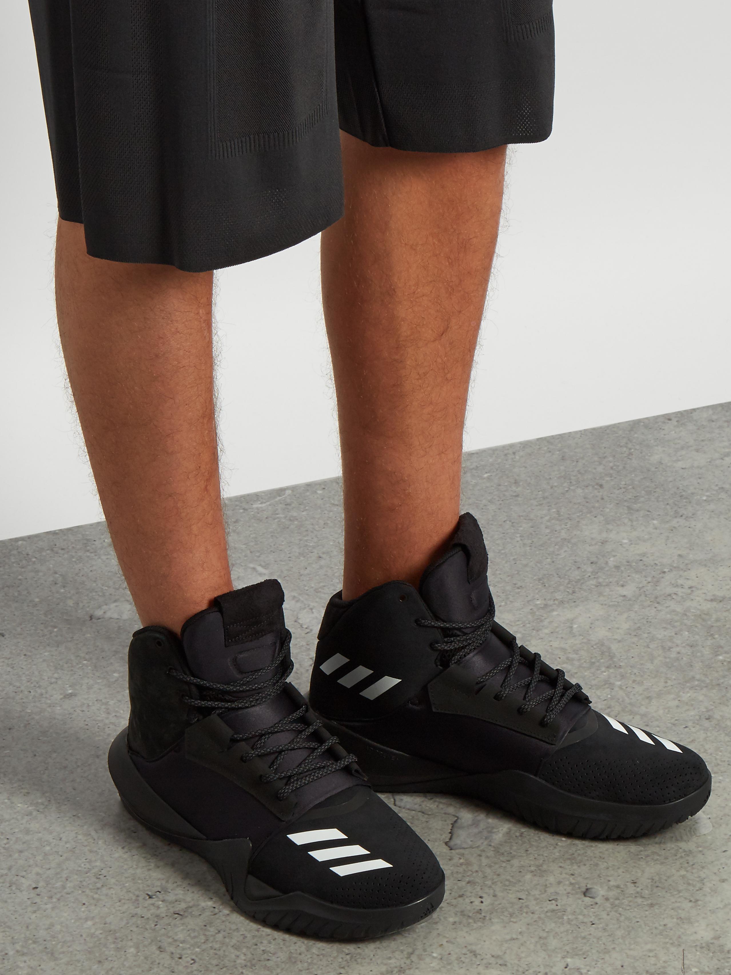 3601c8f20 adidas Originals Ado Crazy Team High-top Trainers in Black for Men ...