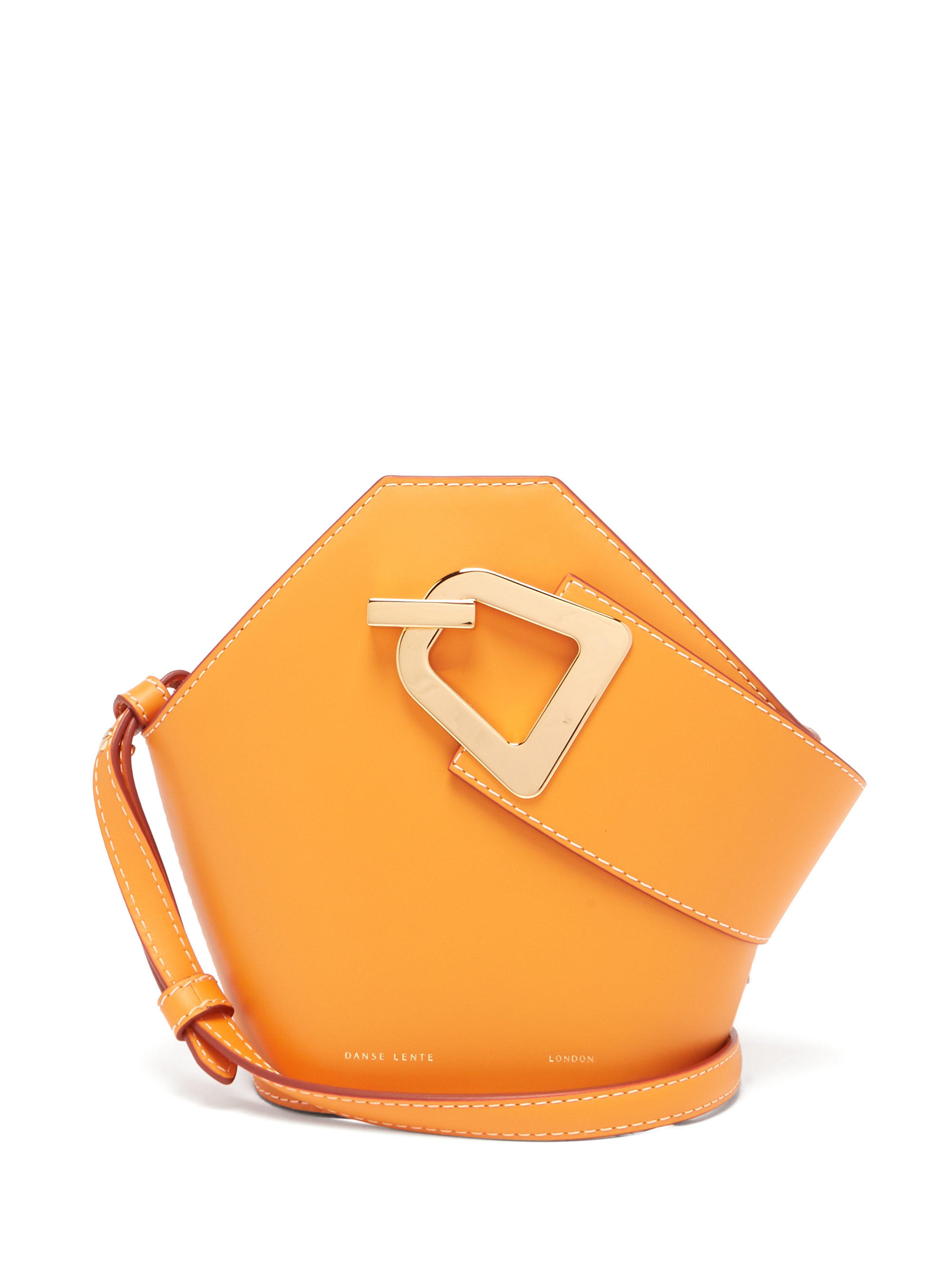 69b286c2af68 Danse Lente - Orange Johnny Mini Leather Bucket Bag - Lyst. View fullscreen