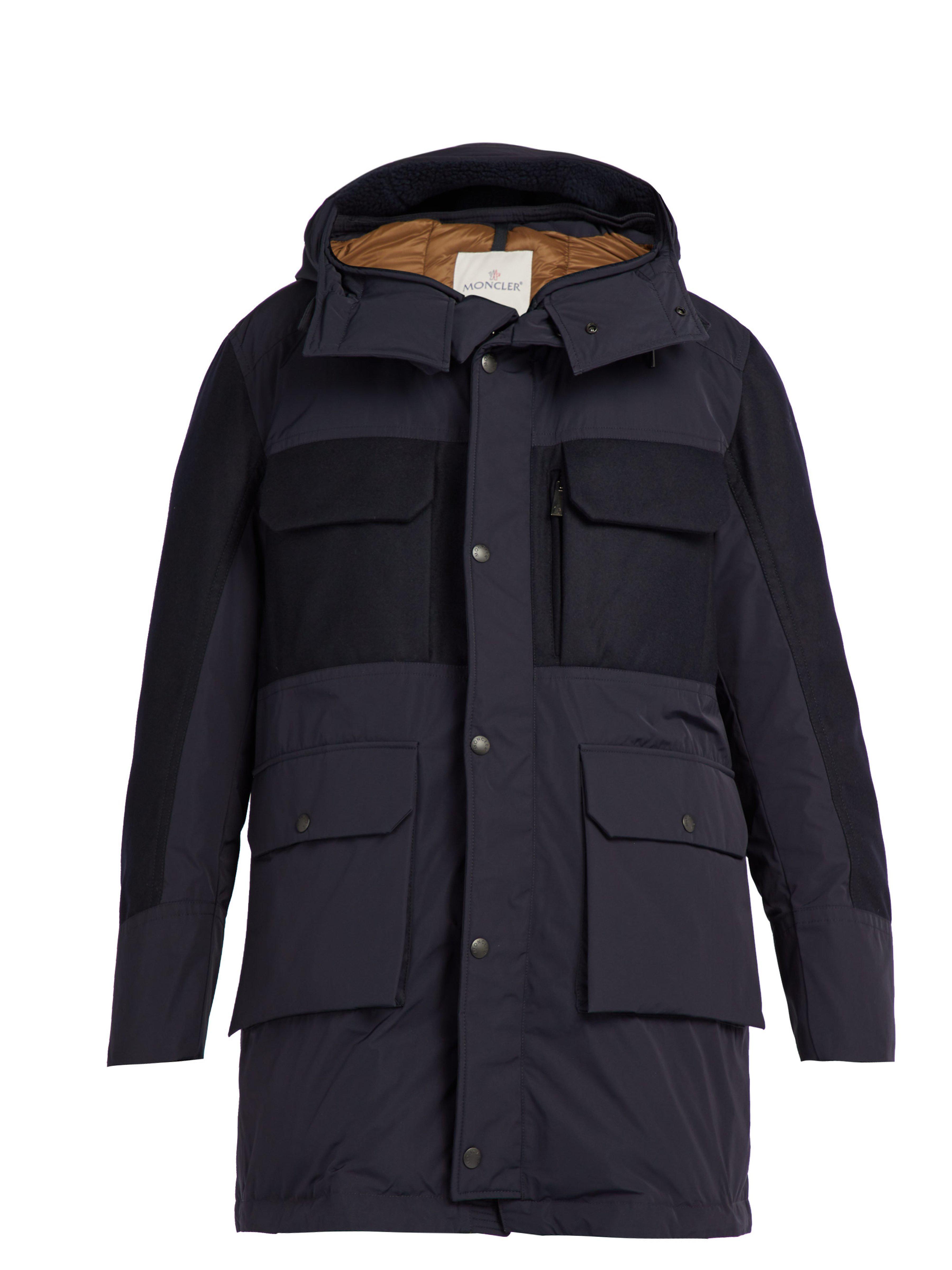717794d28165 Moncler Perrault Hooded Down Parka in Blue for Men - Lyst