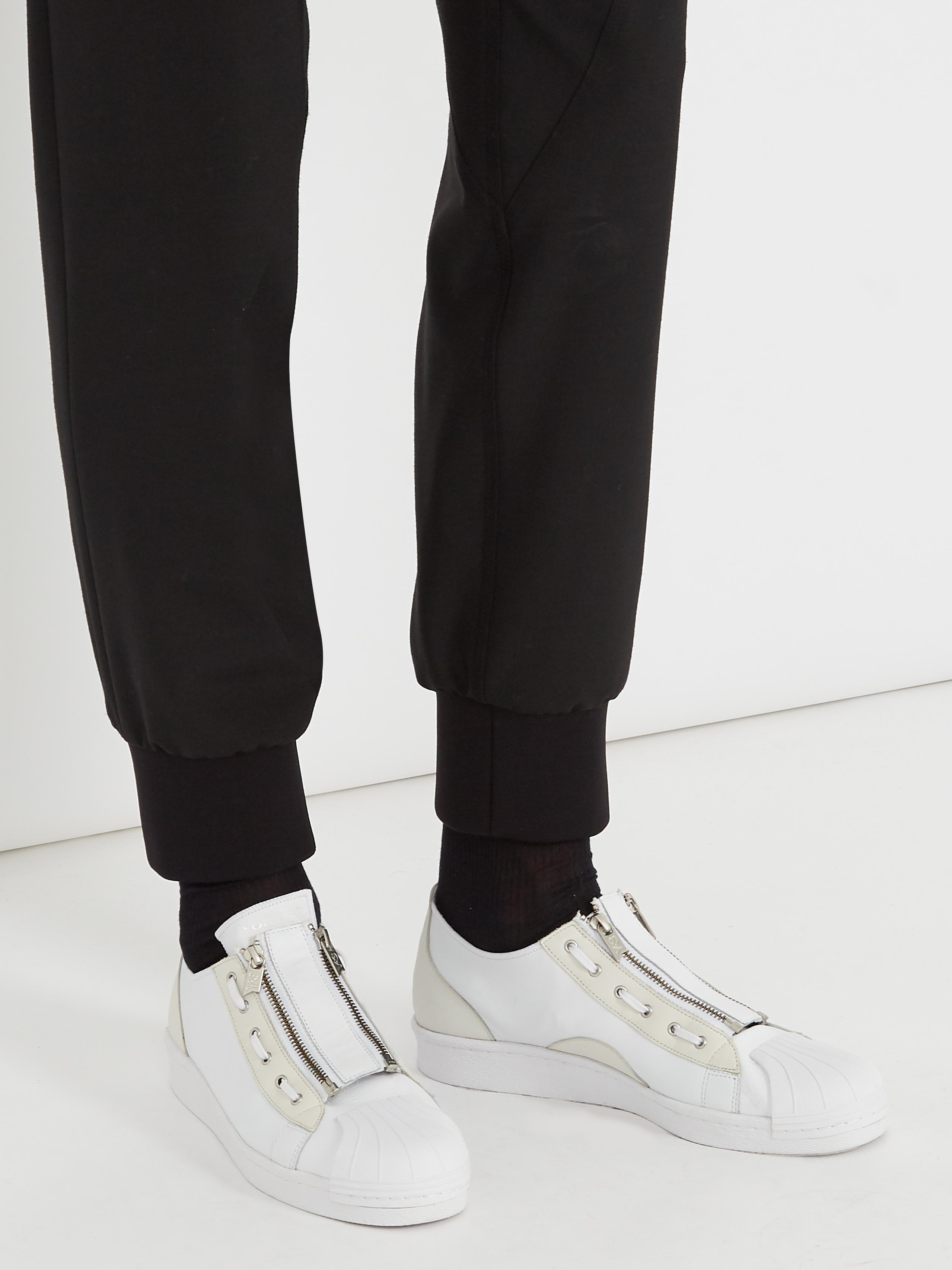 691dd8f77 Lyst - Y-3 Super Zip Low-top Leather Trainers in White for Men