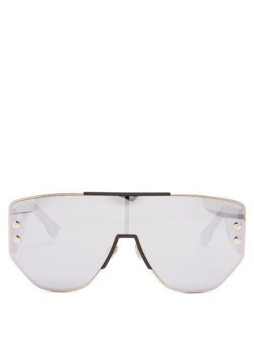 d1e76acbc4 Dior Dioraddict1 Mirrored D Frame Sunglasses - Lyst