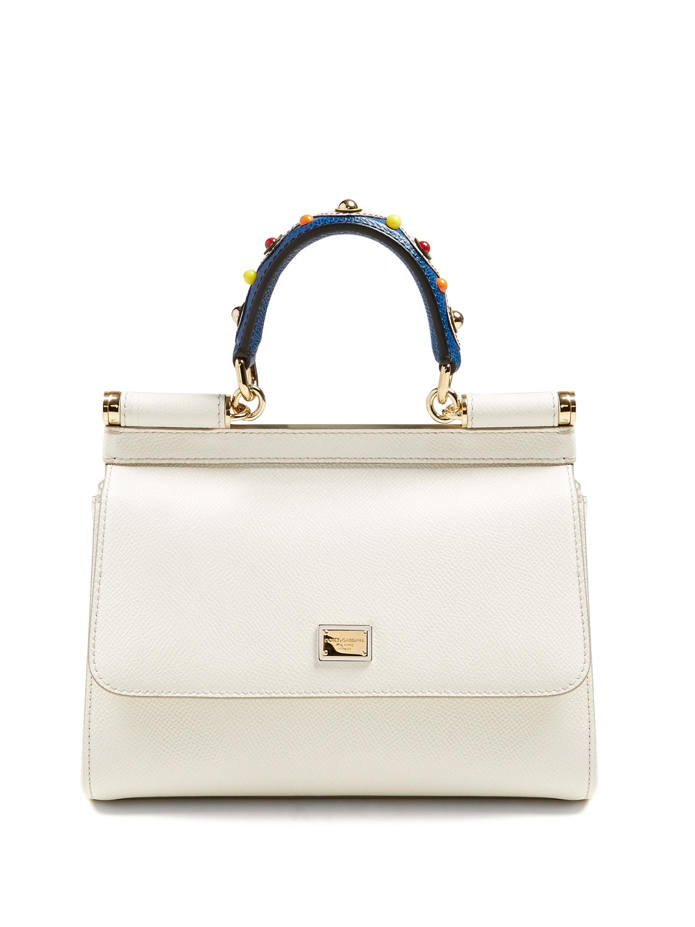 3fc50595fd Lyst - Dolce   Gabbana Sicily Small Pebble-leather Cross-body Bag in ...