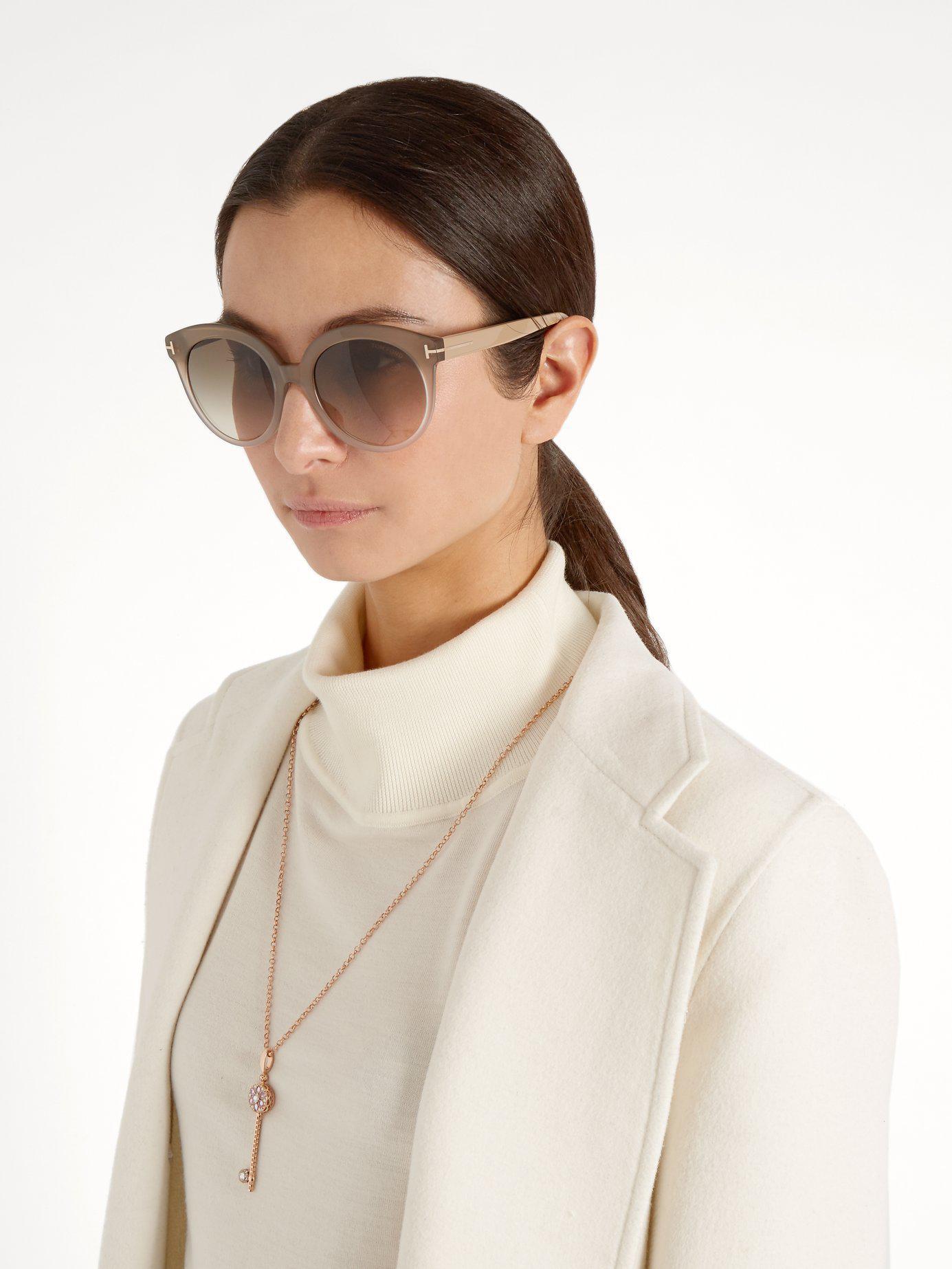e9277e7fe37 Lyst - Tom Ford Monica Acetate Sunglasses in Natural