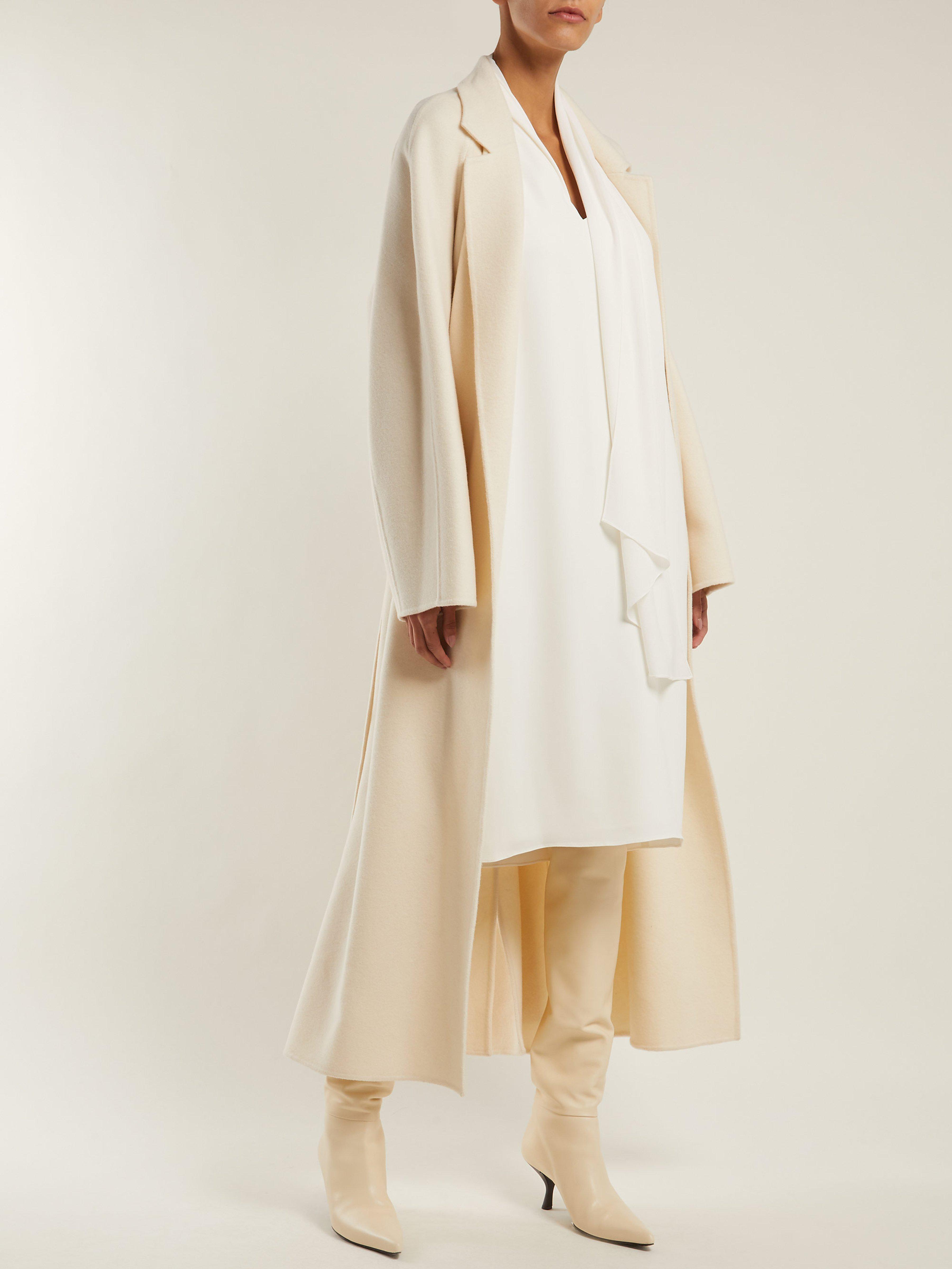 0be8002ffa6 The Row Flynn Neck Tie Cady Dress in White - Lyst