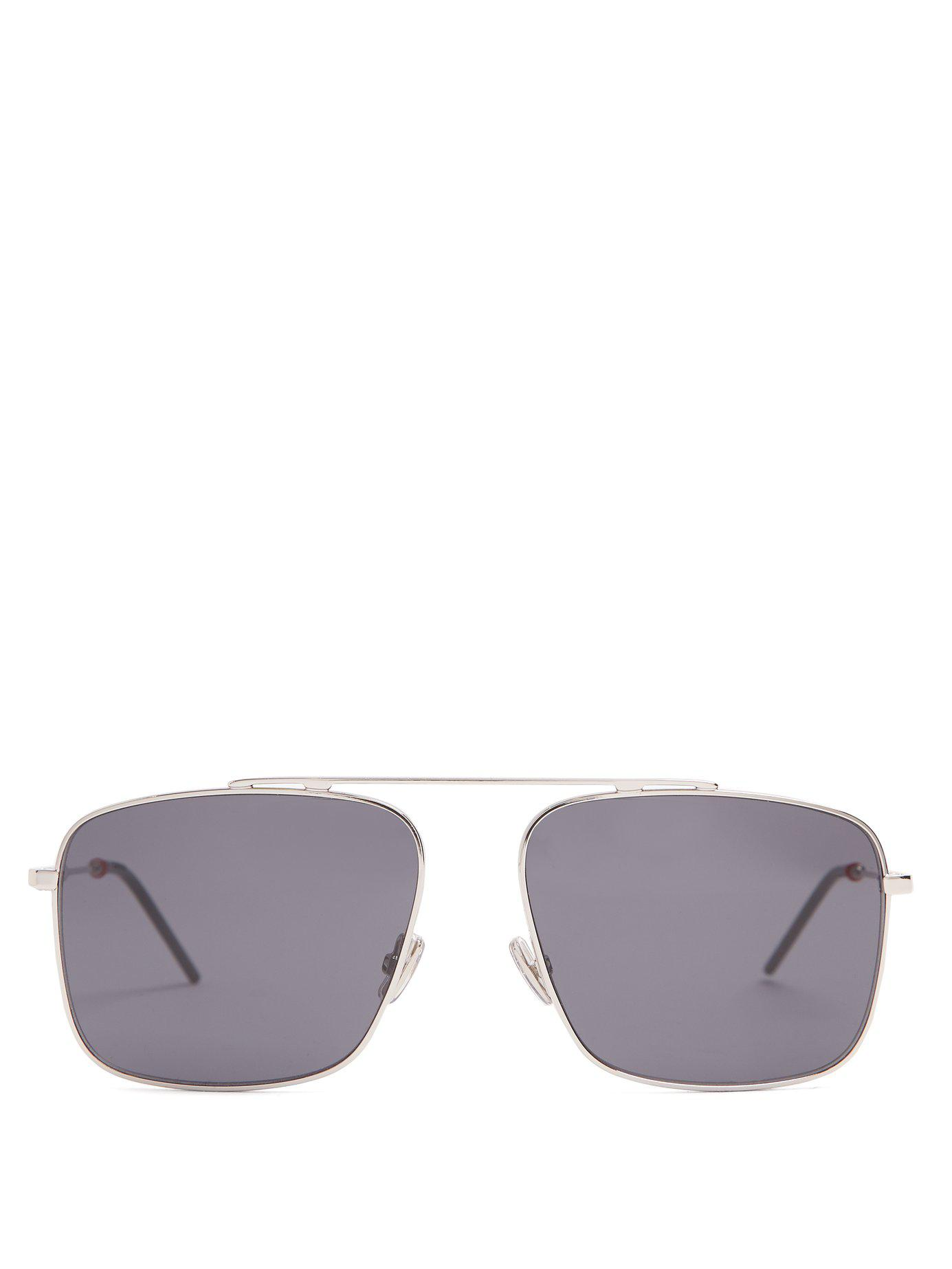 5f74931157b5 Lyst - Dior Homme Square Frame Metal Sunglasses in Metallic for Men