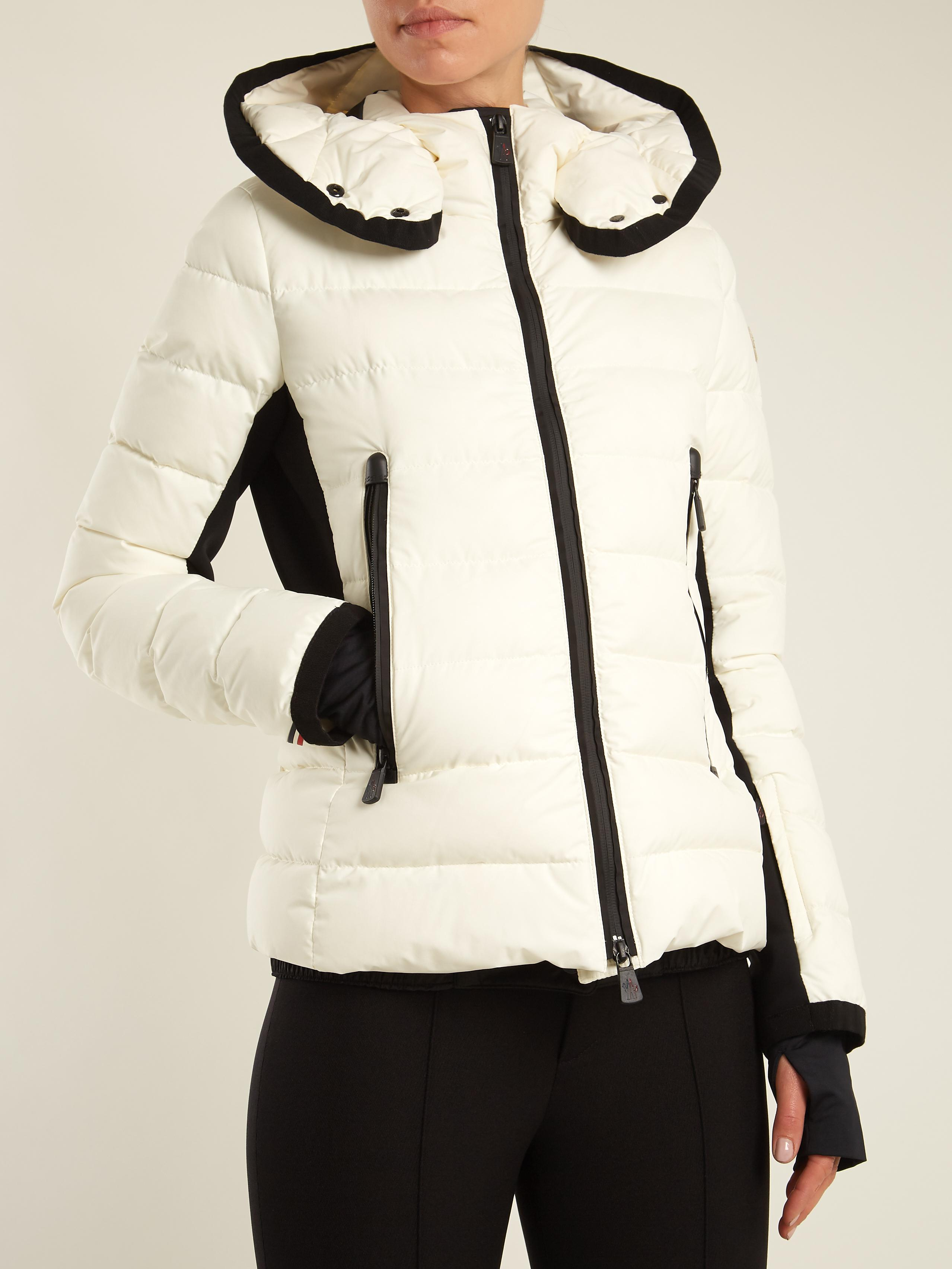 b2506c6386 ... where to buy lyst moncler grenoble lamoura hooded quilted down ski  jacket in white 0f66e 534e8 ...