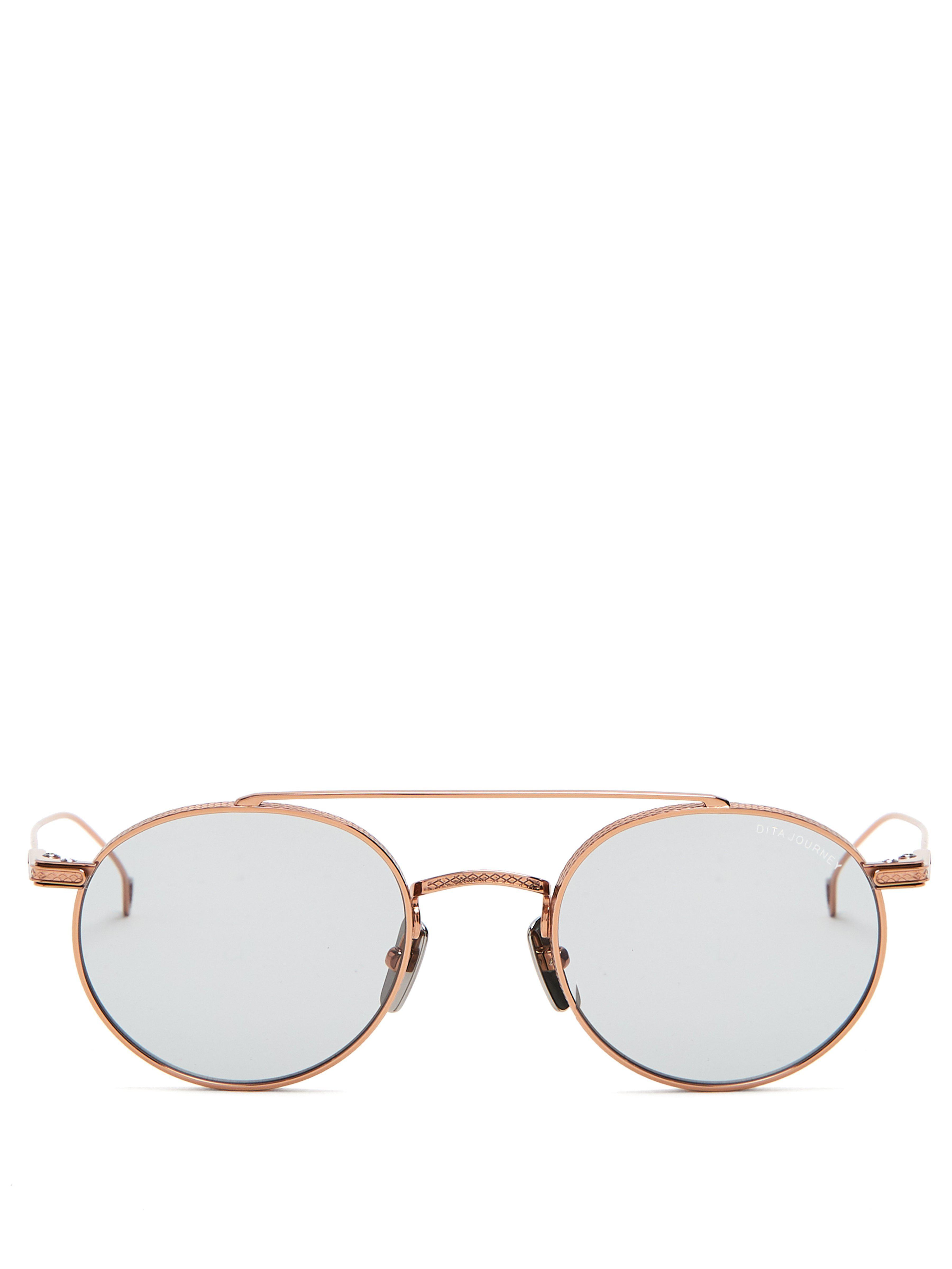 0d5fd80919c Dita Eyewear Journey Round Frame Sunglasses in Metallic for Men - Lyst