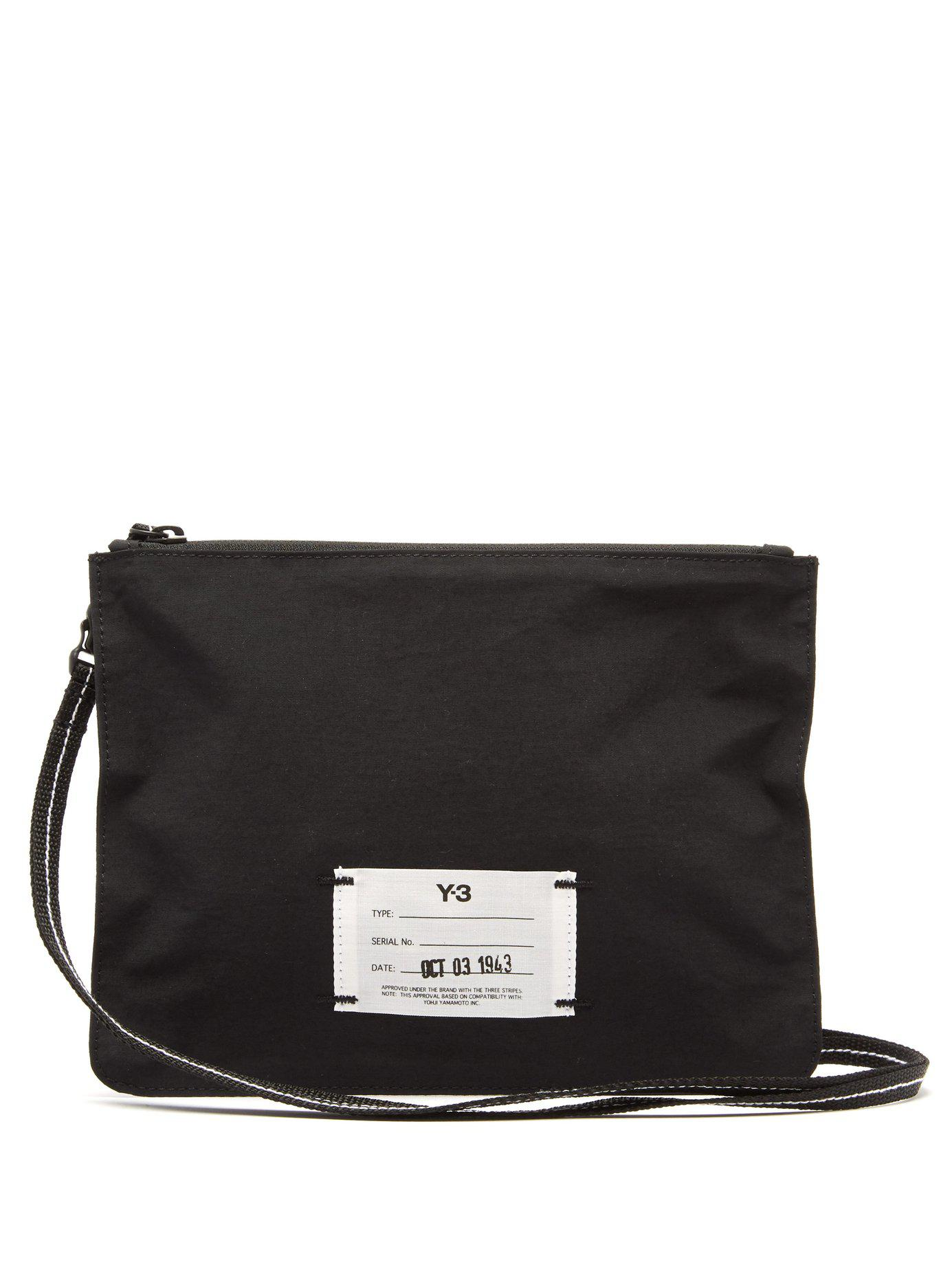 Lyst - Y-3 Technical Pouch Cross Body Bag in Black for Men 7eede1d1acd23