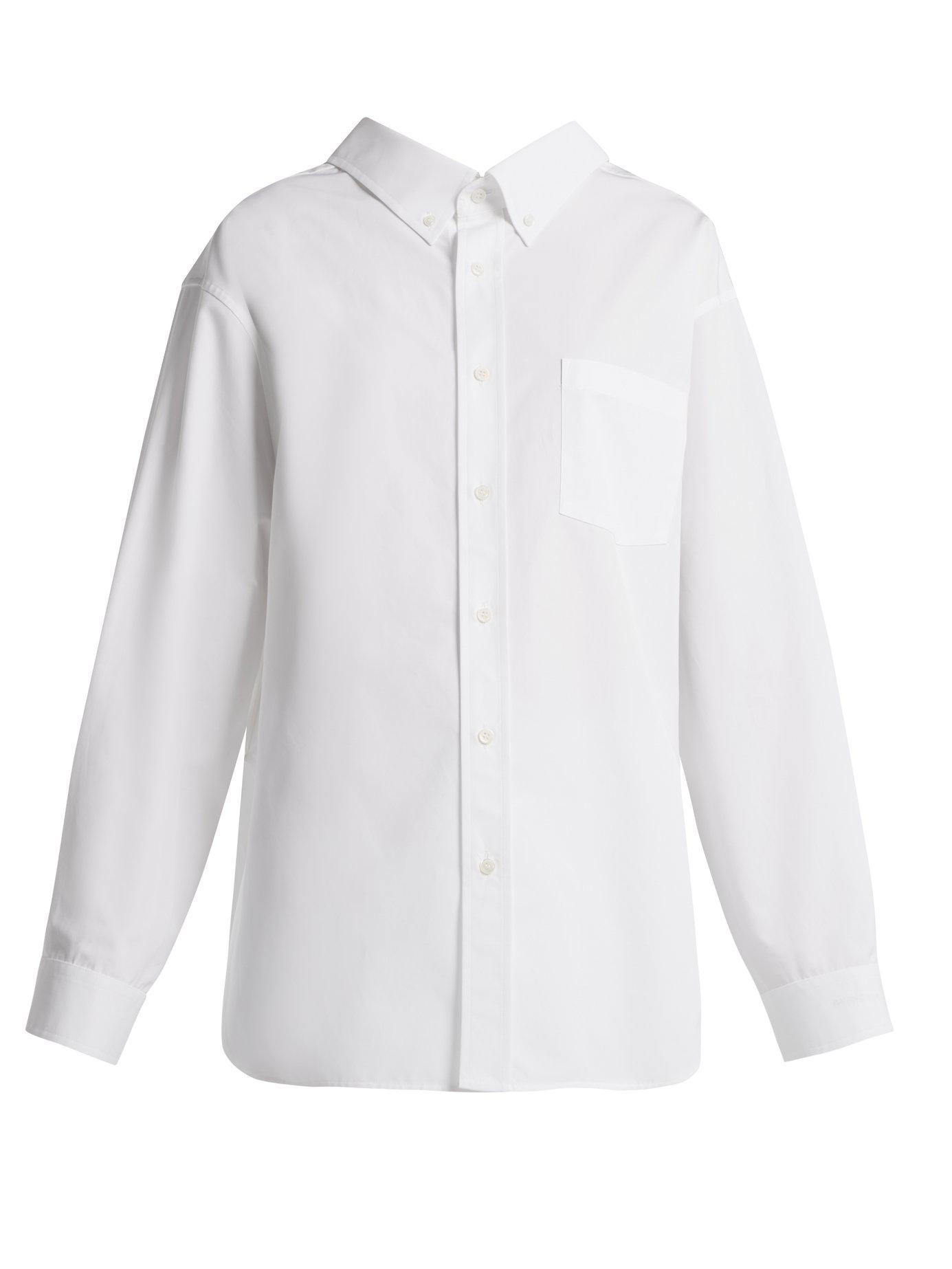32ad90c208a5ab Lyst - Balenciaga Swing Cotton Shirt in White