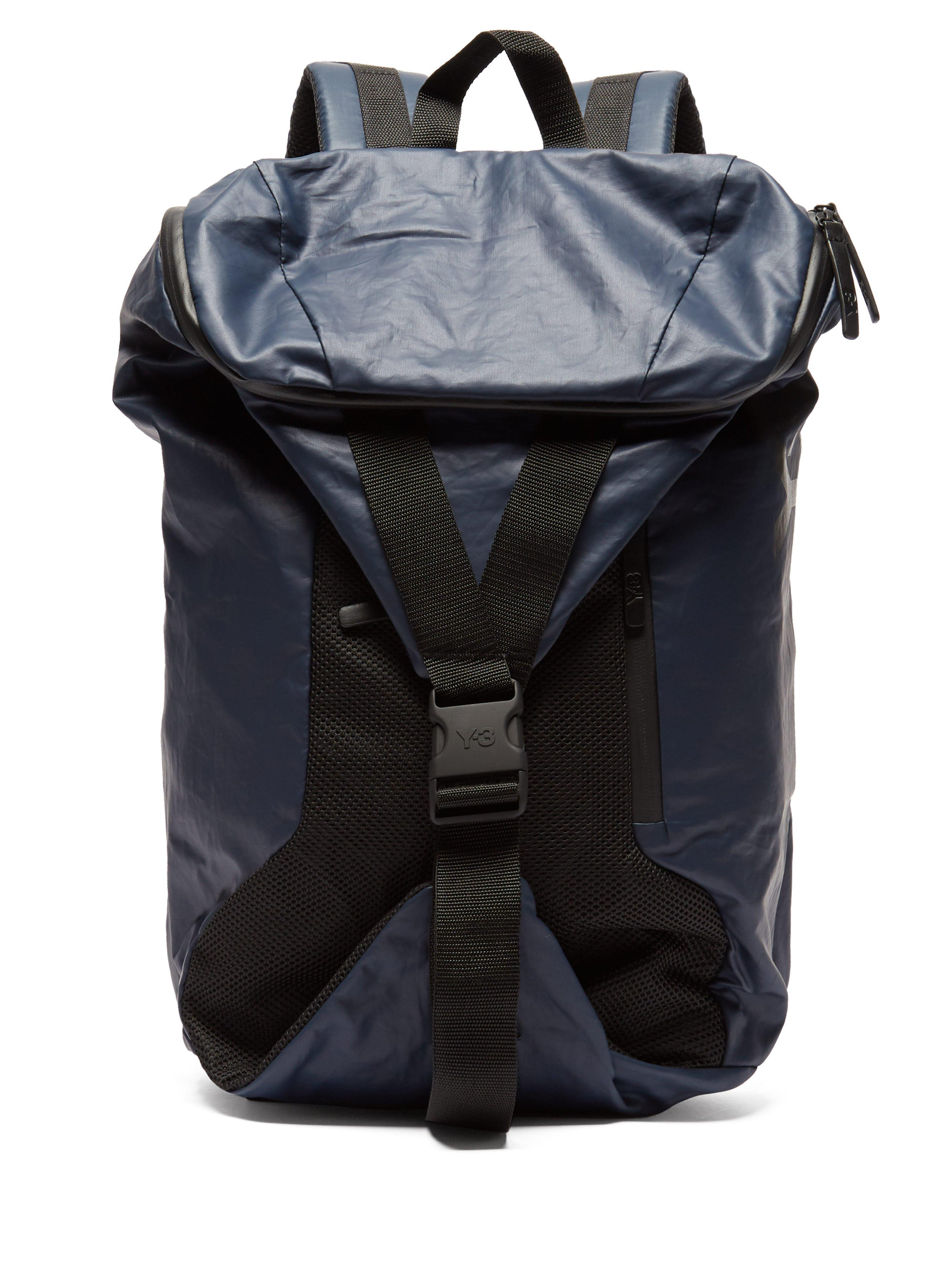 Y-3 Base Backpack in Black for Men - Lyst f202f65bb18aa