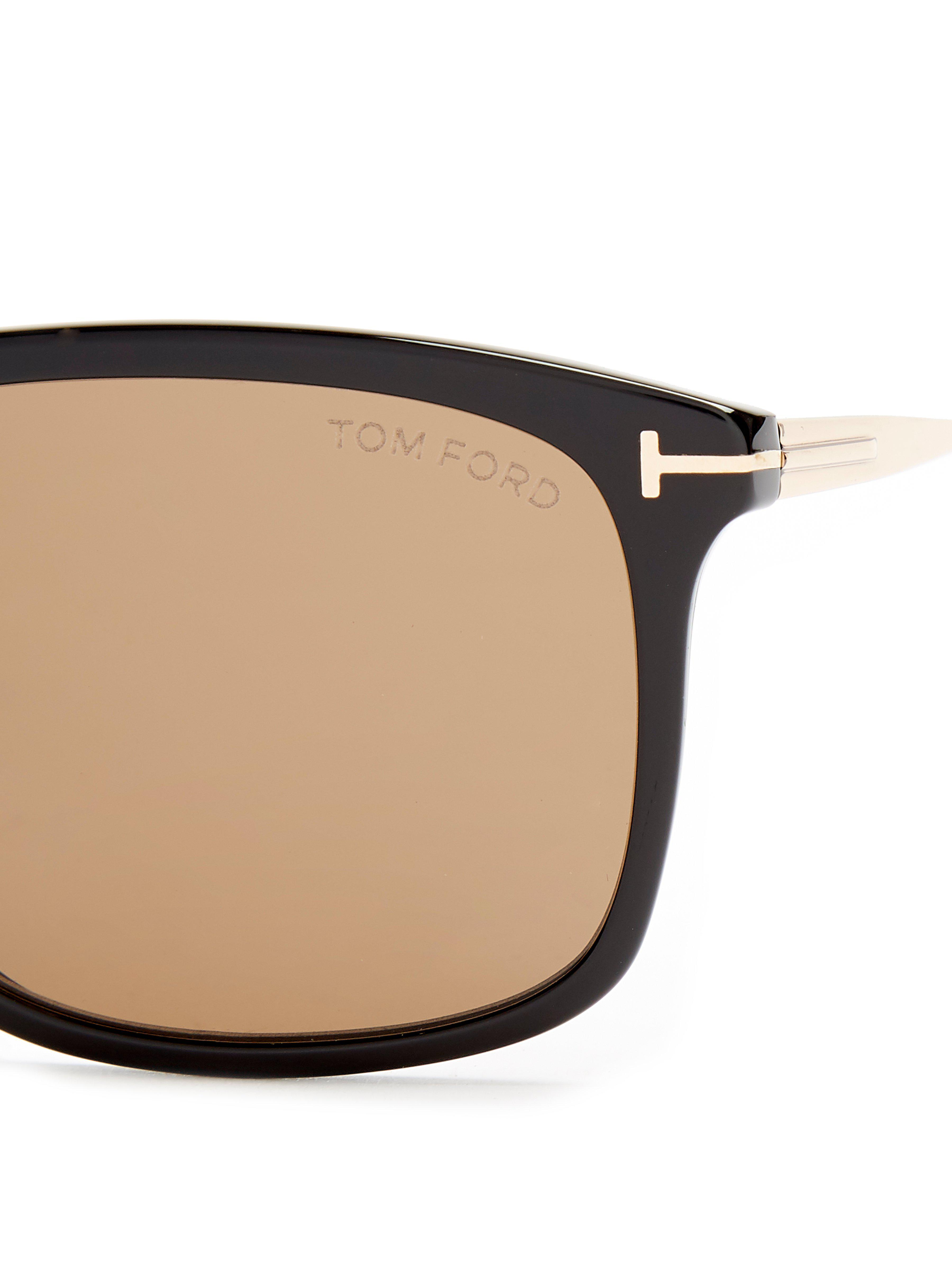 2be2b4965028 Tom Ford - Brown Eric Rectangle Frame Sunglasses for Men - Lyst. View  fullscreen