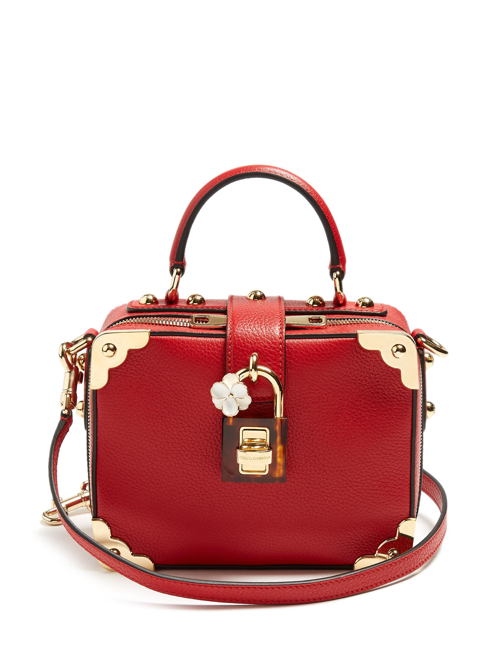 8c905e9057 Dolce   Gabbana Dolce Soft Grained-leather Box Bag in Red - Lyst
