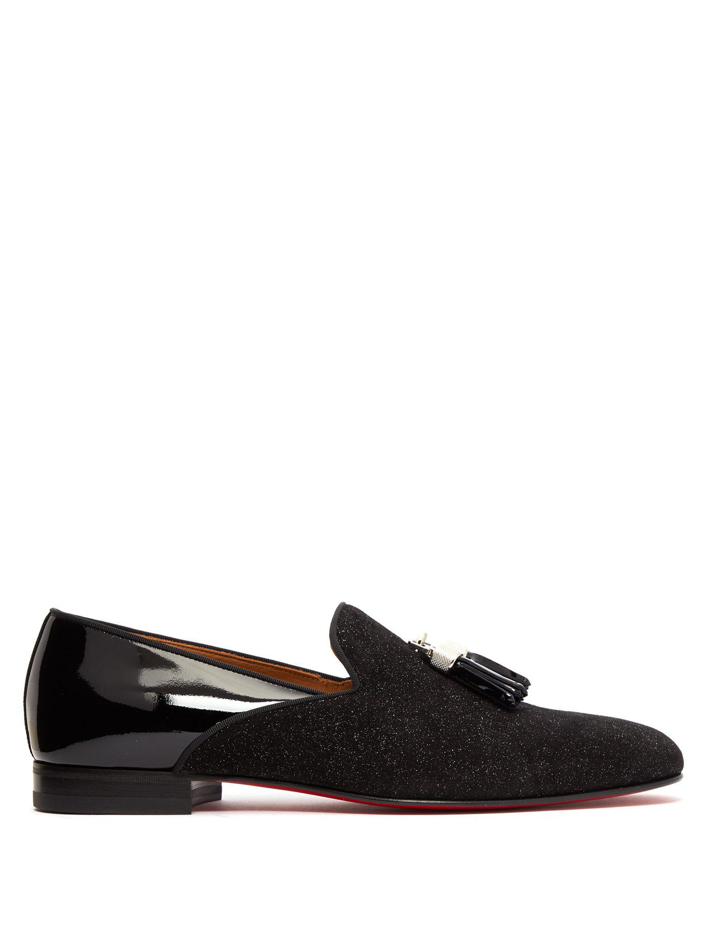 ddfced7c5a7 Lyst - Christian Louboutin Tassileon Patent Leather Loafers in Black ...