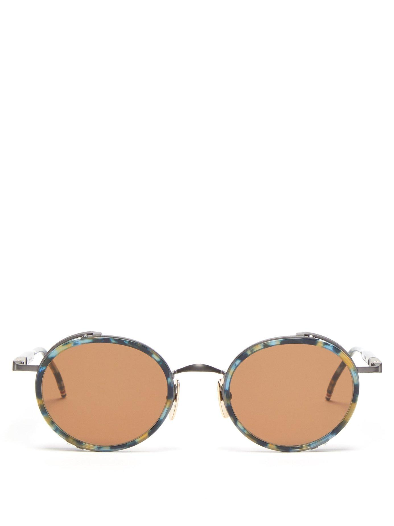 8c7ac01f30ab Lyst - Thom Browne Round Frame Acetate And Metal Sunglasses for Men