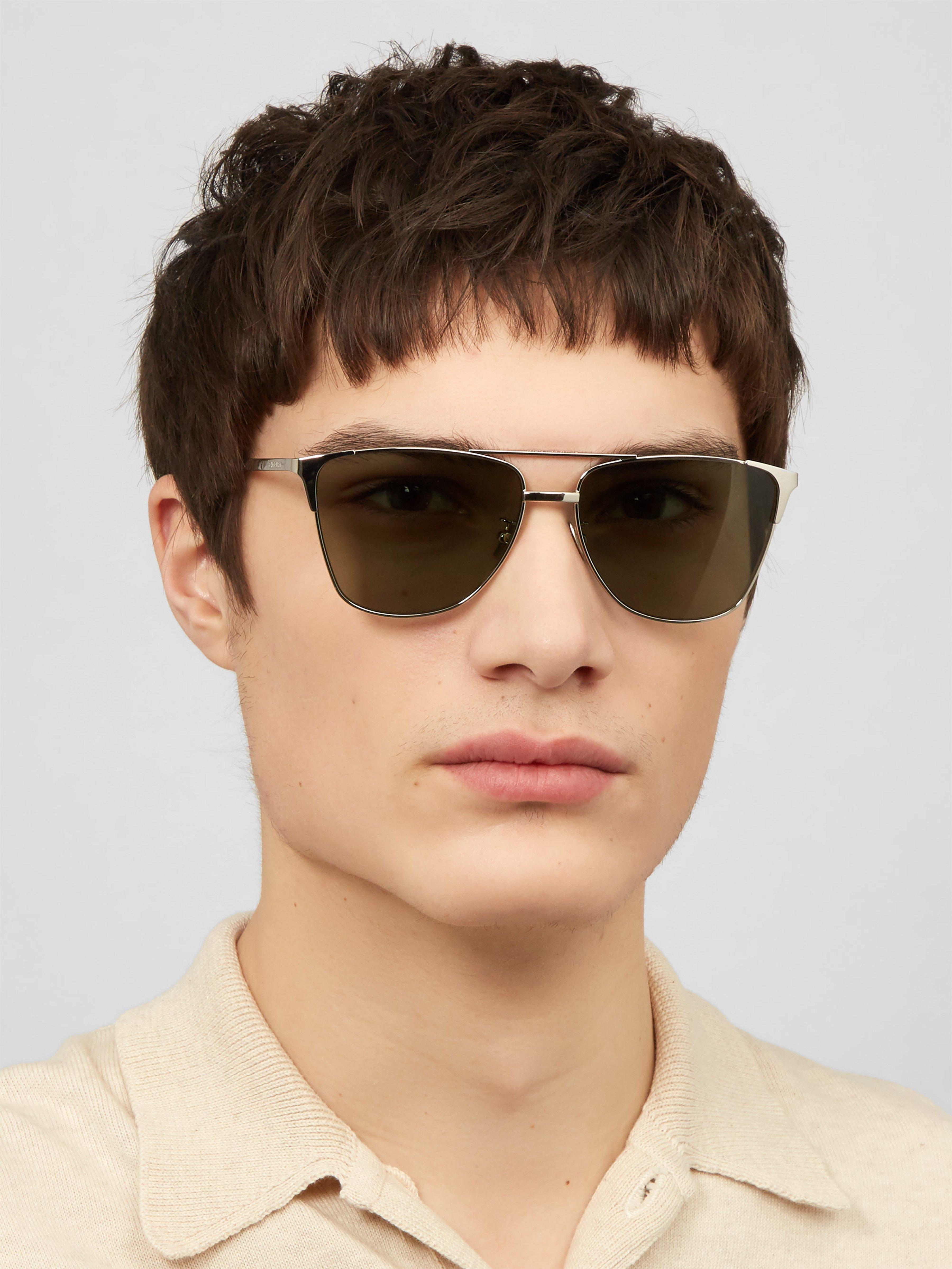 e7ce0910bd9e Saint Laurent Classic Metal Sunglasses in Black for Men - Lyst