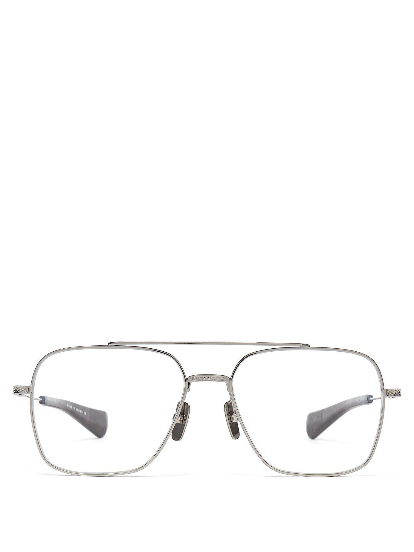 d32ed935a84 Dita Eyewear. Men s Metallic Flight Seven Aviator Metal Optical Glasses