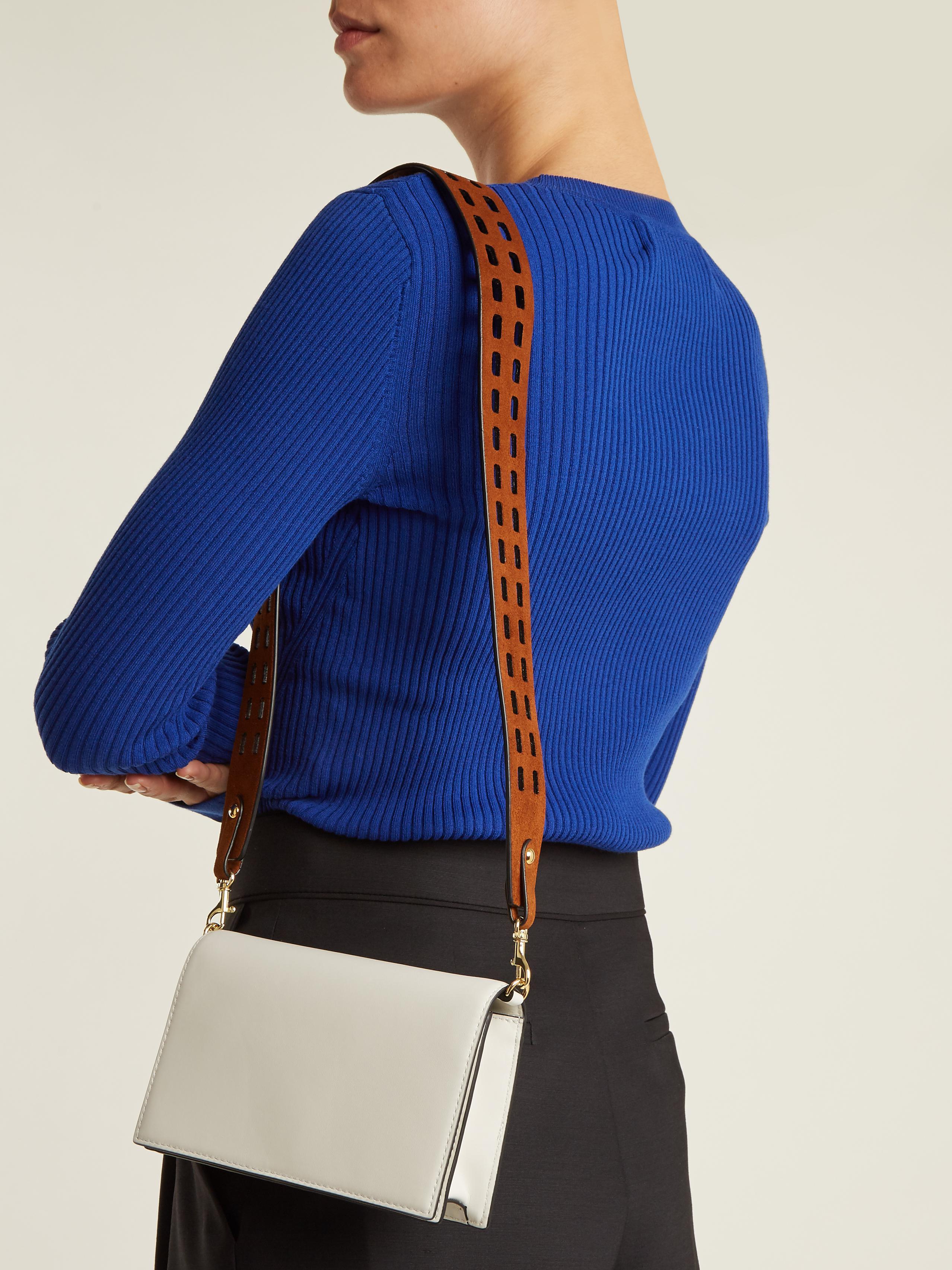 b93ae94d7c60 Lyst - Diane von Furstenberg Soirée Double-strap Leather Cross-body ...